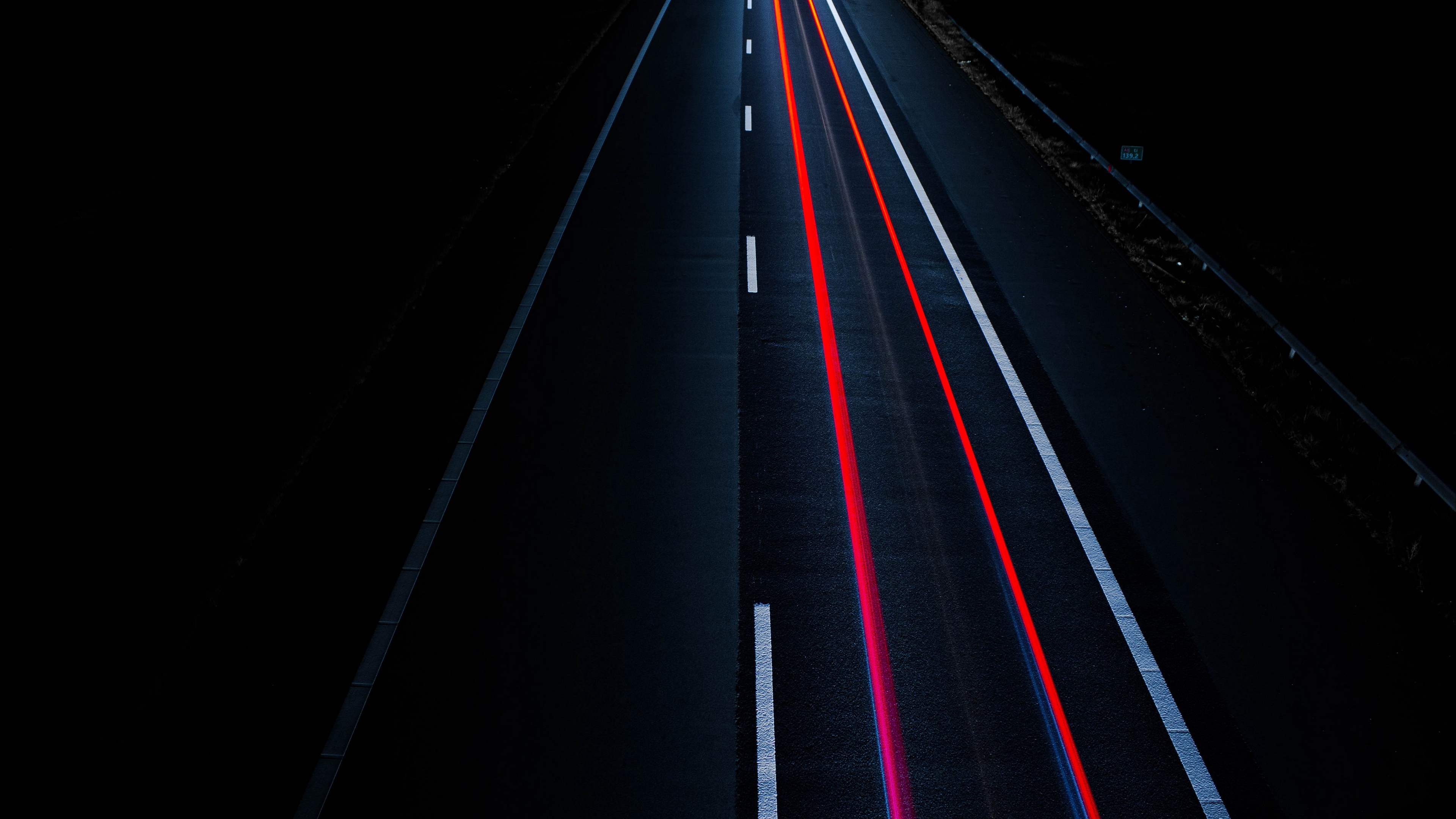 road light lines marking 4k 1536017755 - road, light, lines, marking 4k - Road, Lines, Light