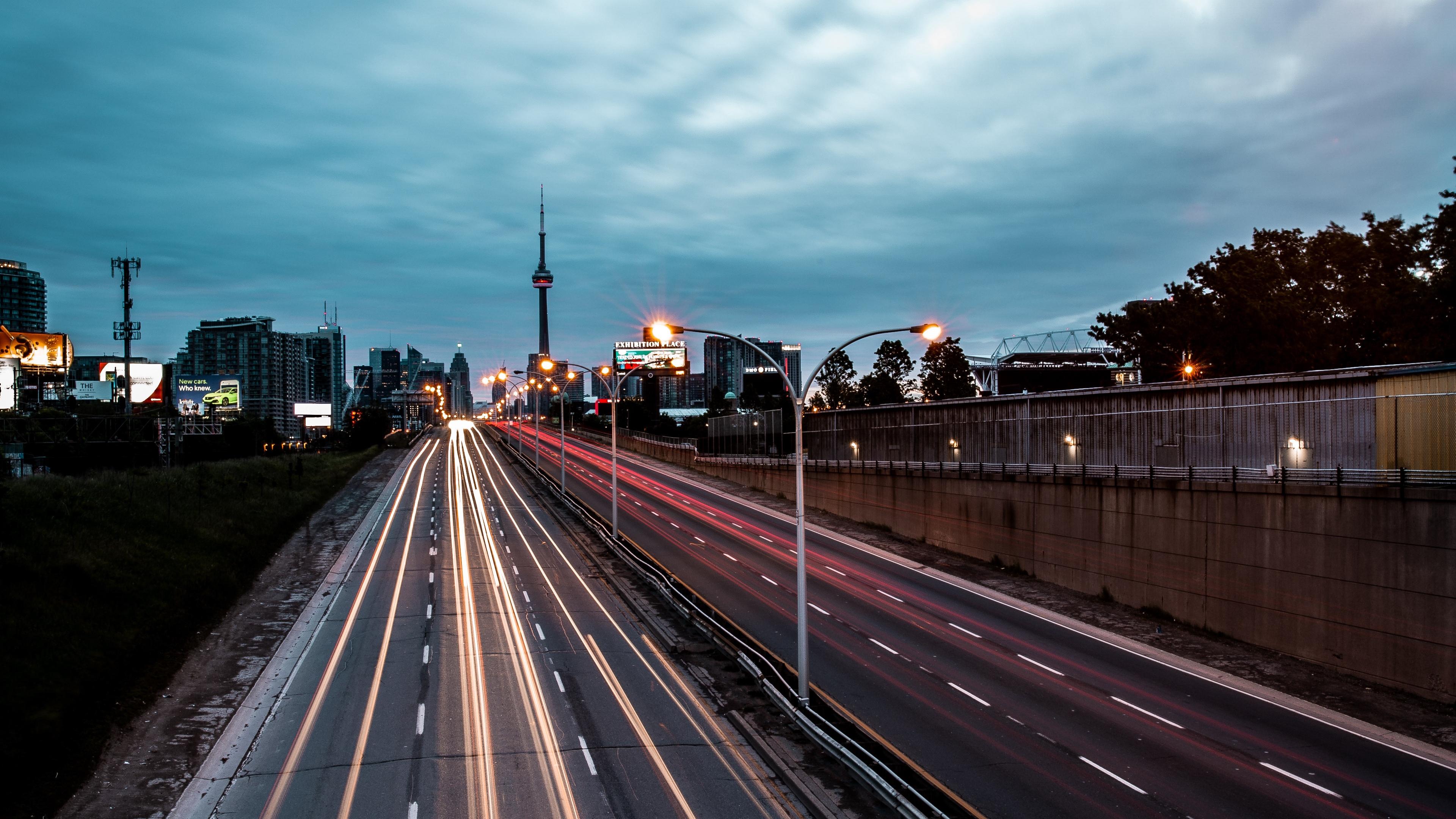 road movement city evening 4k 1538065523 - road, movement, city, evening 4k - Road, movement, City