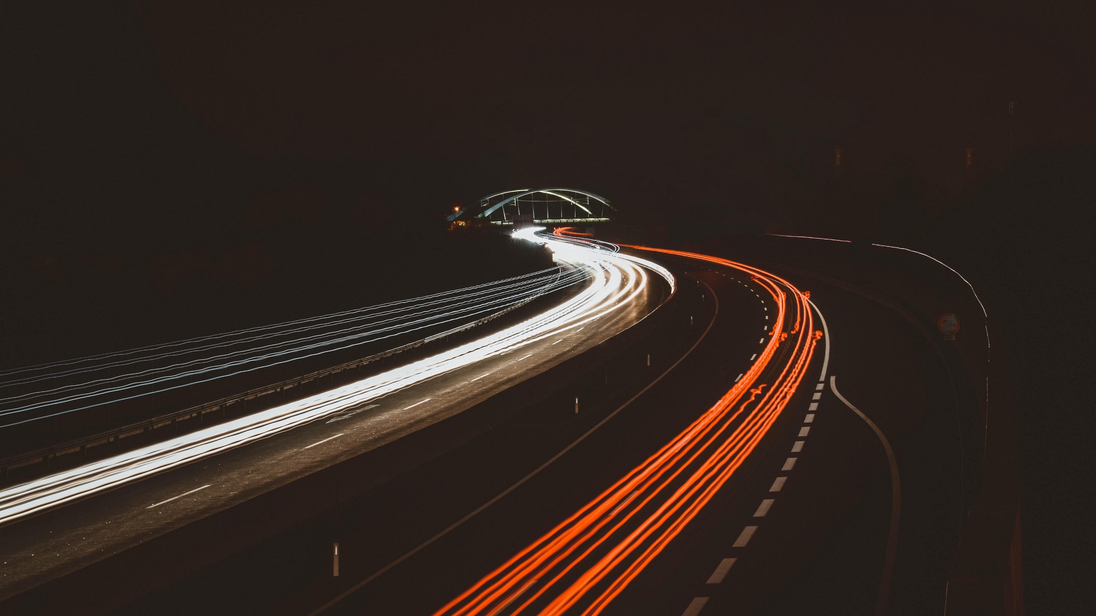 road turn light night 4k 1538065540 - road, turn, light, night 4k - turn, Road, Light