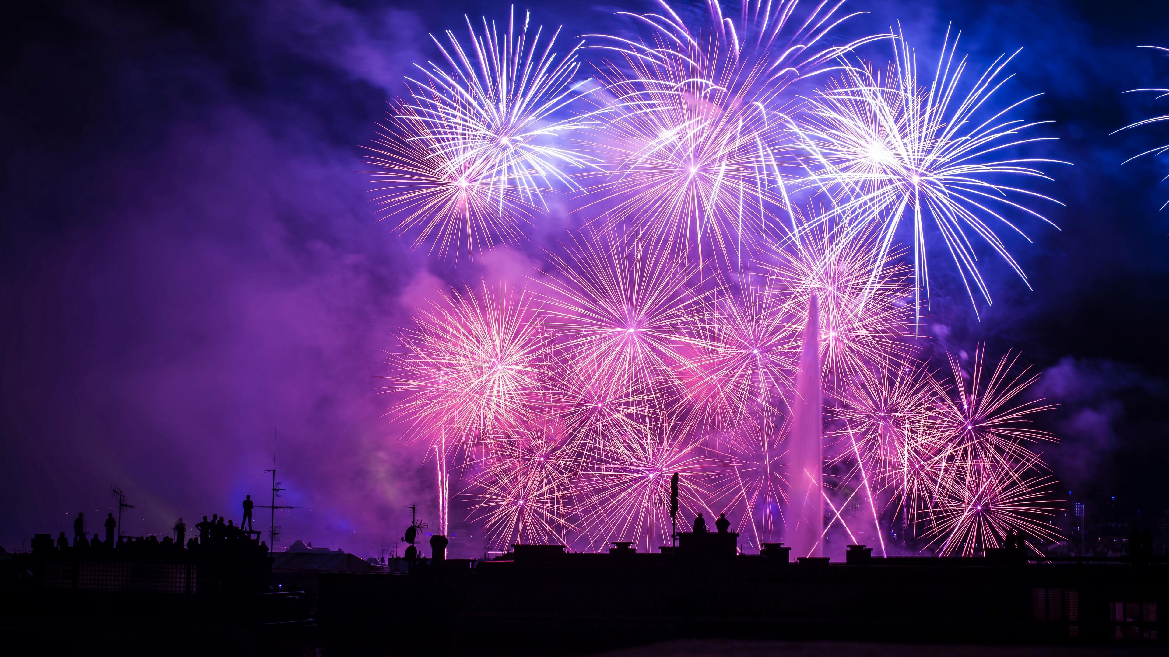 salute city holiday fireworks 4k 1538344787 - salute, city, holiday, fireworks 4k - salute, Holiday, City