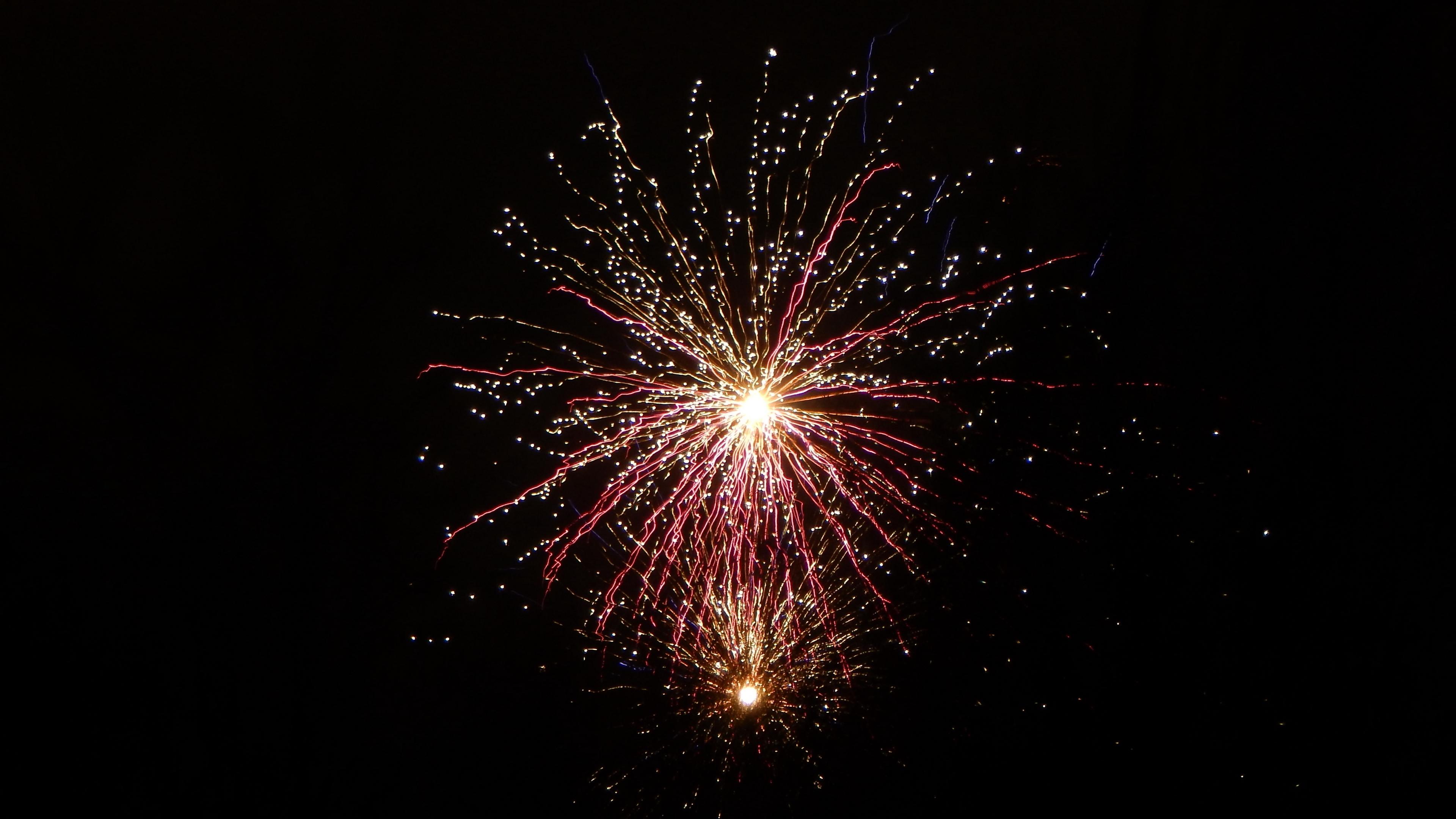 salute fireworks sky glitter 4k 1538344745 - salute, fireworks, sky, glitter 4k - Sky, salute, Fireworks