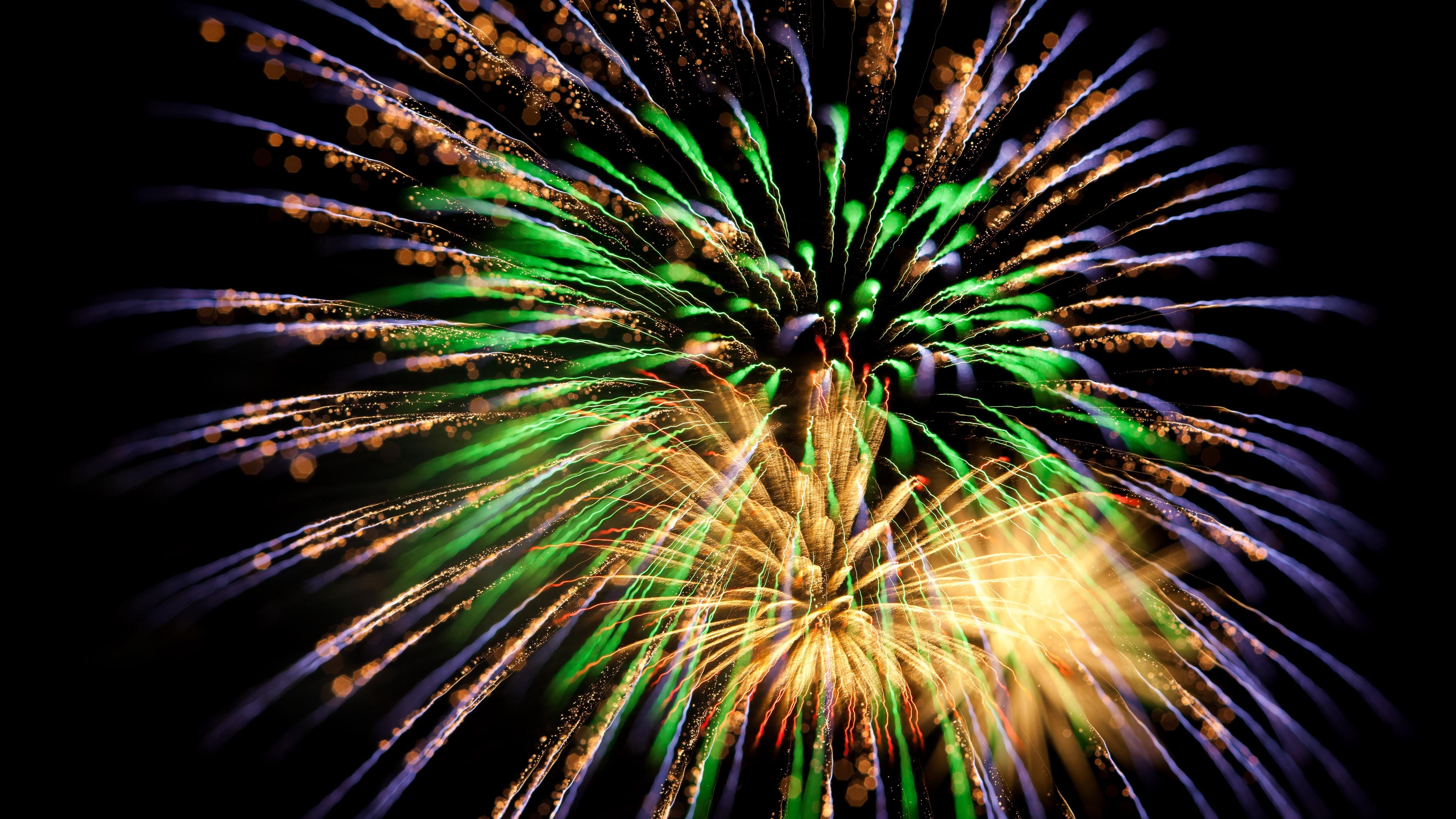 salute fireworks sparks green 4k 1538344627 - salute, fireworks, sparks, green 4k - Sparks, salute, Fireworks