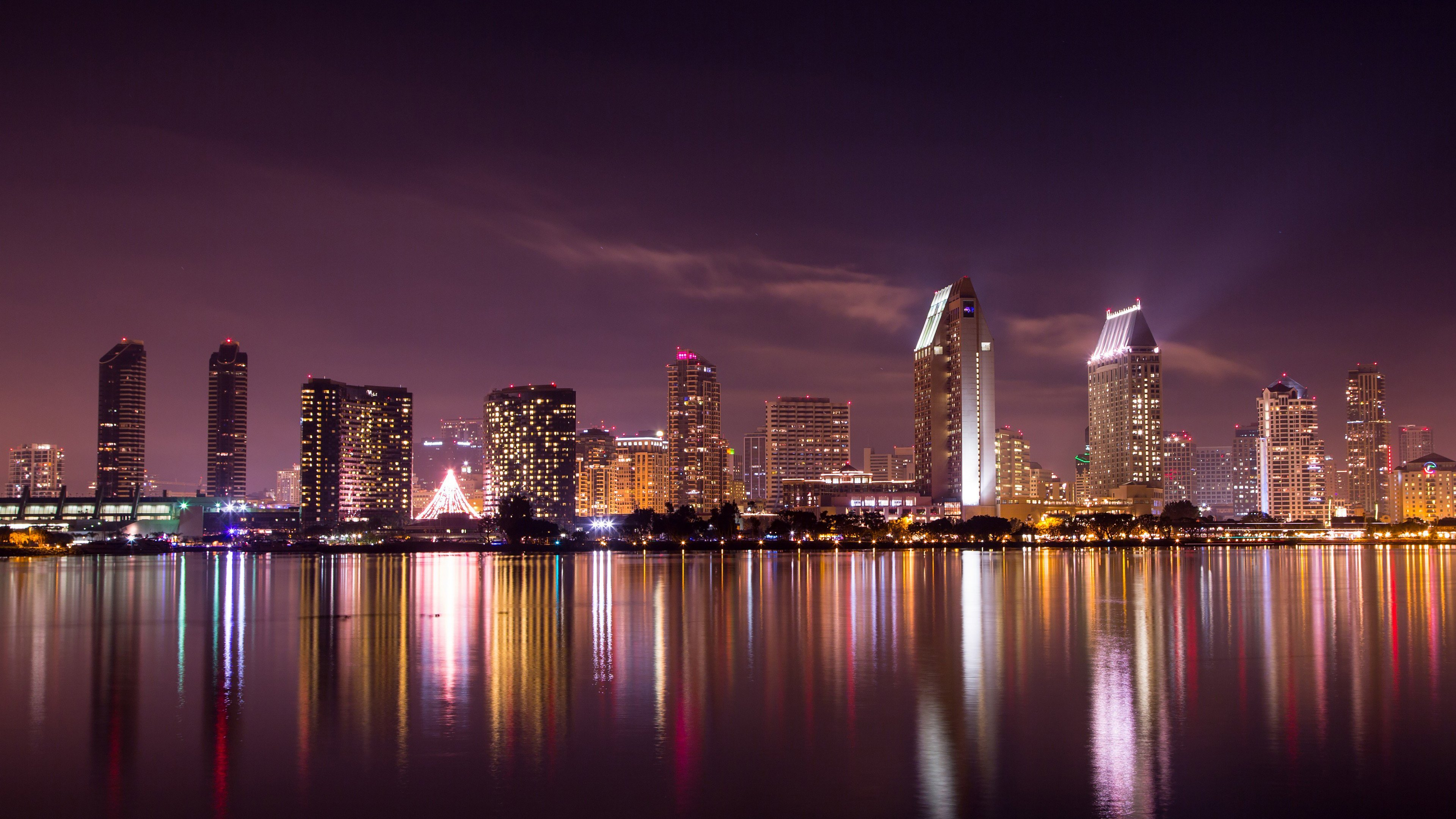 Wallpaper 4k San Diego Skyline City Wallpapers Hd Wallpapers Skyline Wallpapers World Wallpapers