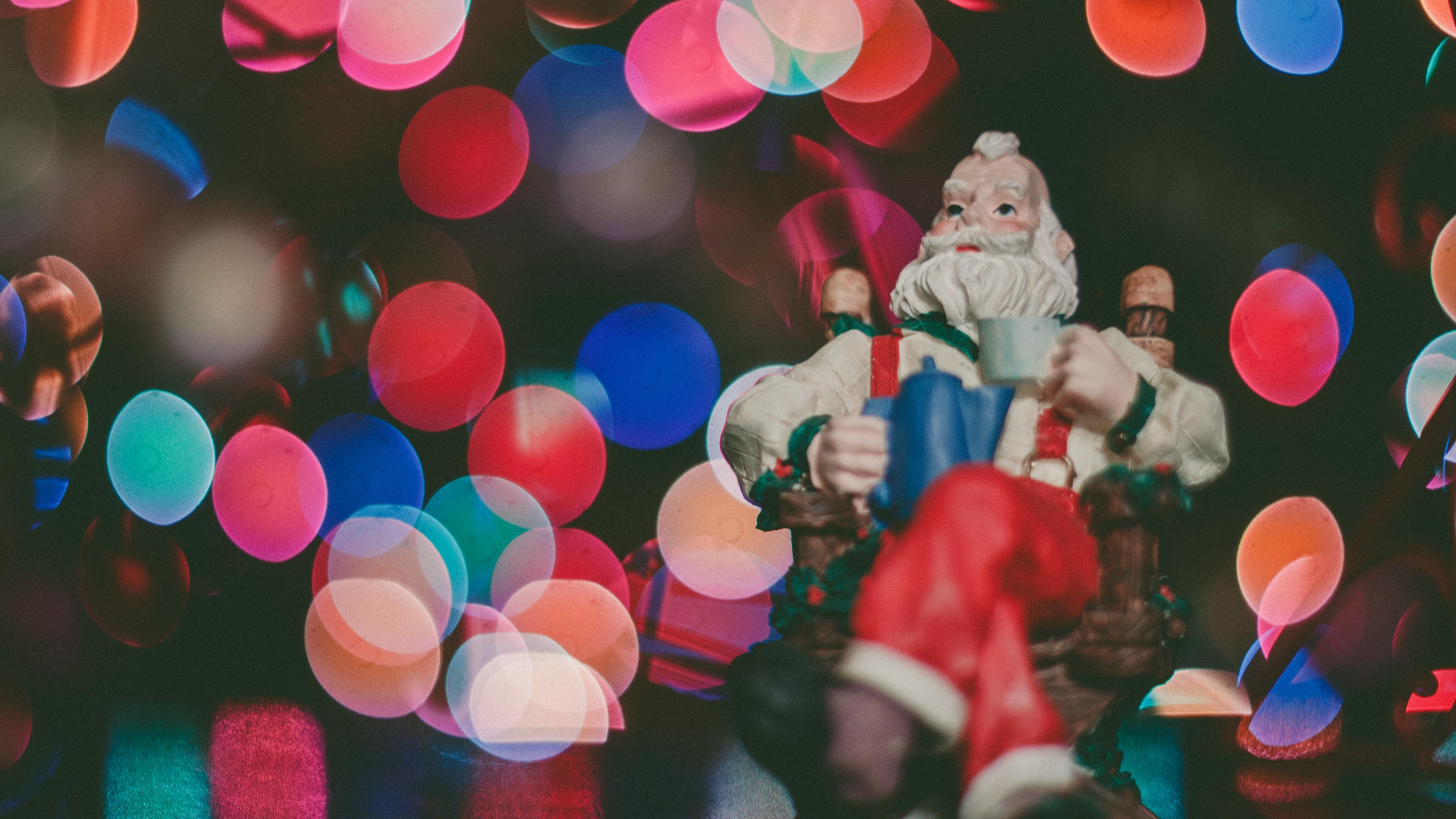 santa claus glare new year 4k 1538344631 - santa claus, glare, new year 4k - santa claus, new year, glare