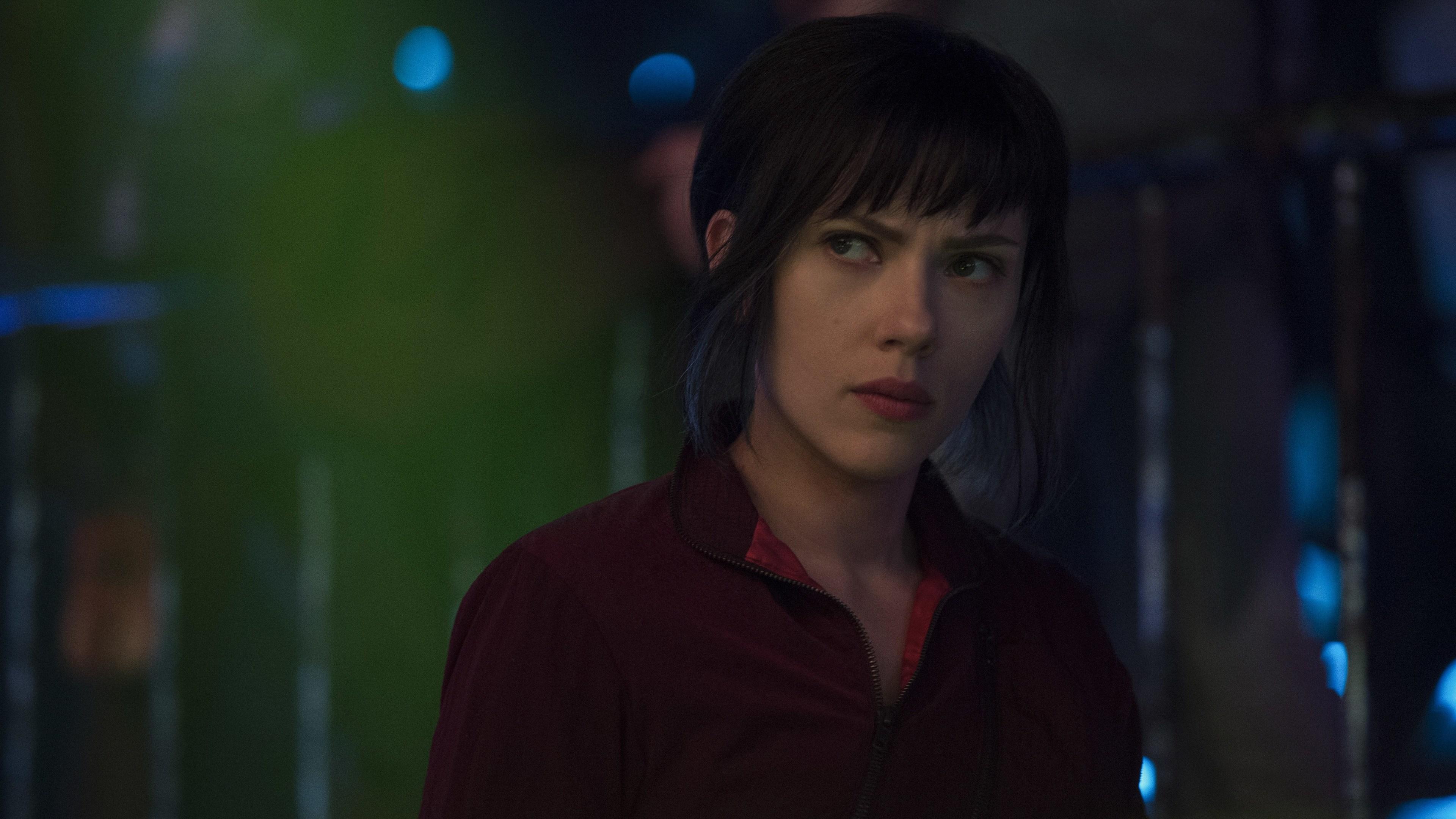Wallpaper 4k Scarlett Johansson As Major Ghost In Shell 2017 2017
