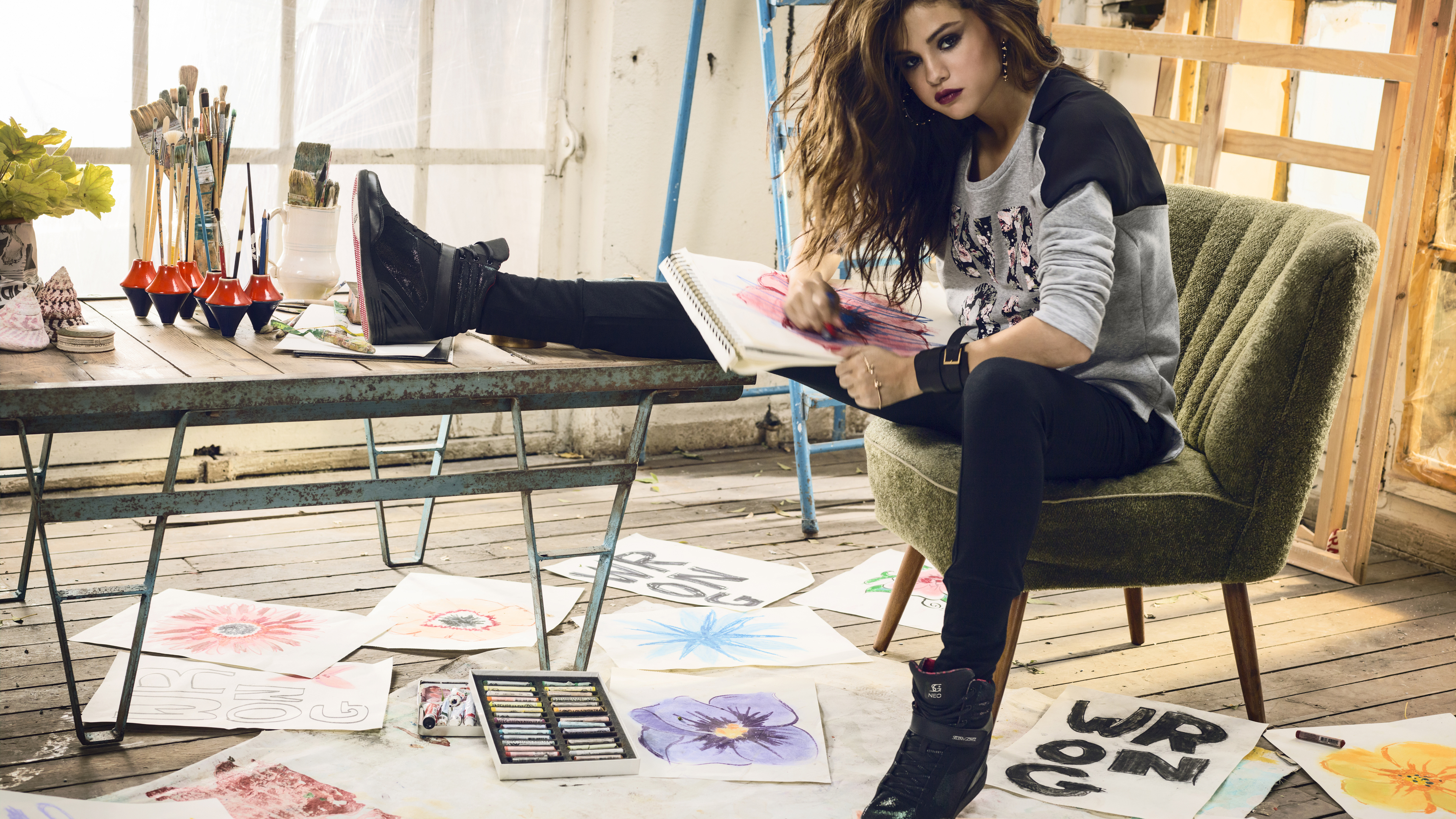 selena gomez adidas 4k 5k 1536944709 - Selena Gomez Adidas 4k 5k - selena gomez wallpapers, music wallpapers, hd-wallpapers, girls wallpapers, celebrities wallpapers, adidas wallpapers, 5k wallpapers, 4k-wallpapers