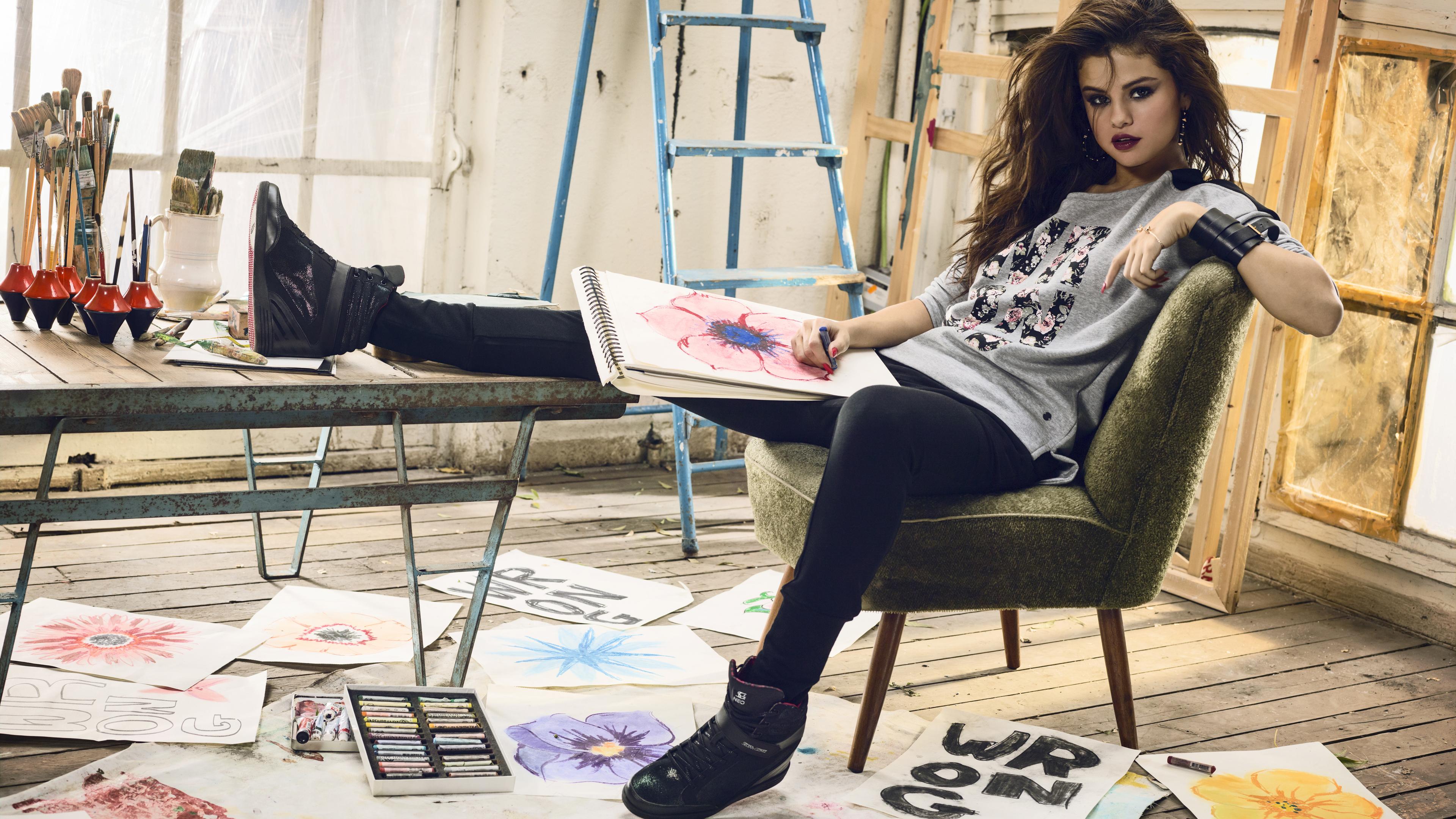 selena gomez adidas 5k neo 1536944711 - Selena Gomez Adidas 5k Neo - selena gomez wallpapers, music wallpapers, hd-wallpapers, girls wallpapers, celebrities wallpapers, adidas wallpapers, 5k wallpapers, 4k-wallpapers
