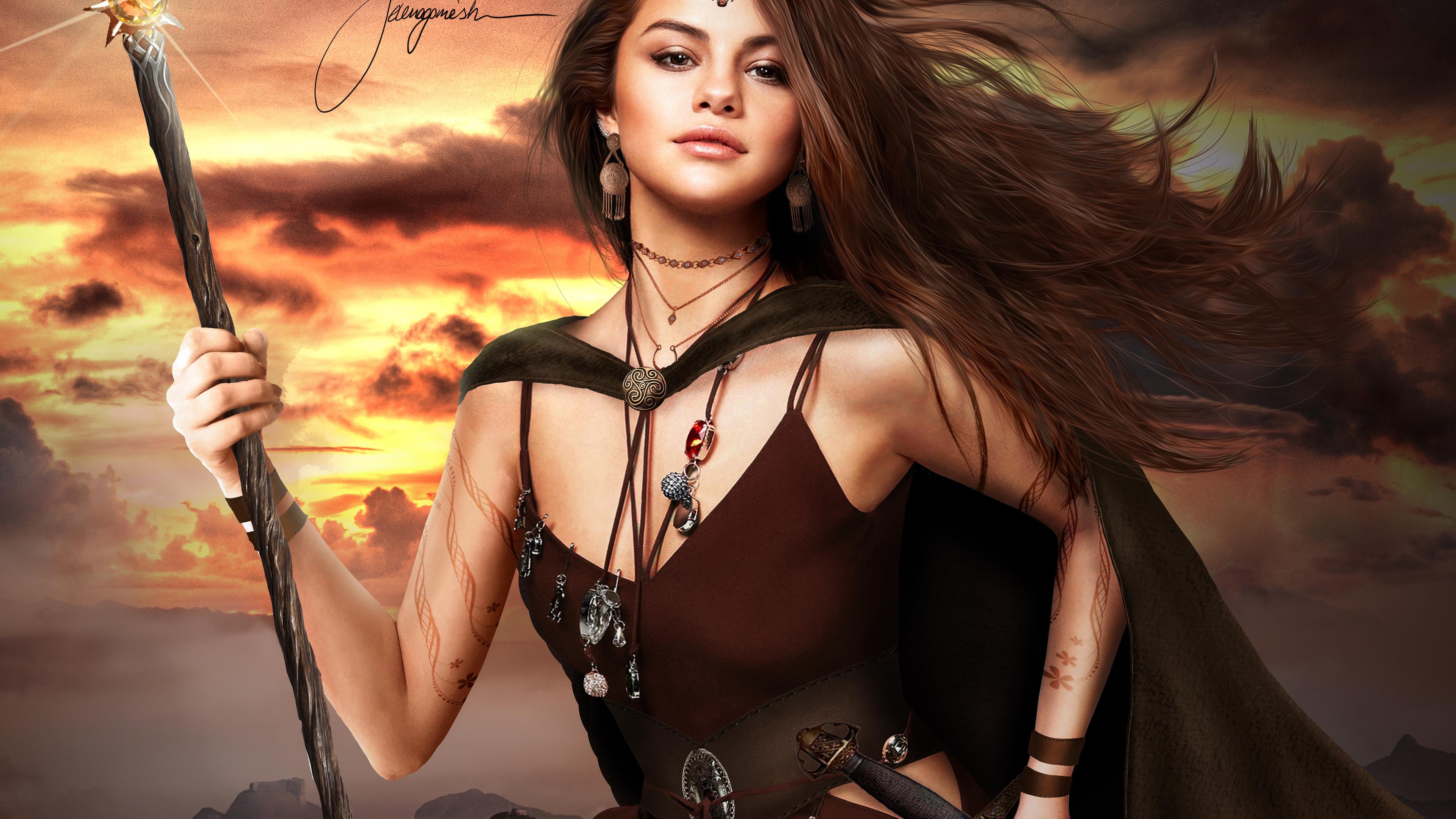 selena gomez warrior 1536863107 - Selena Gomez Warrior - warrior wallpapers, selena gomez wallpapers, music wallpapers, hd-wallpapers, girls wallpapers, deviantart wallpapers, celebrities wallpapers, artist wallpapers, 5k wallpapers, 4k-wallpapers