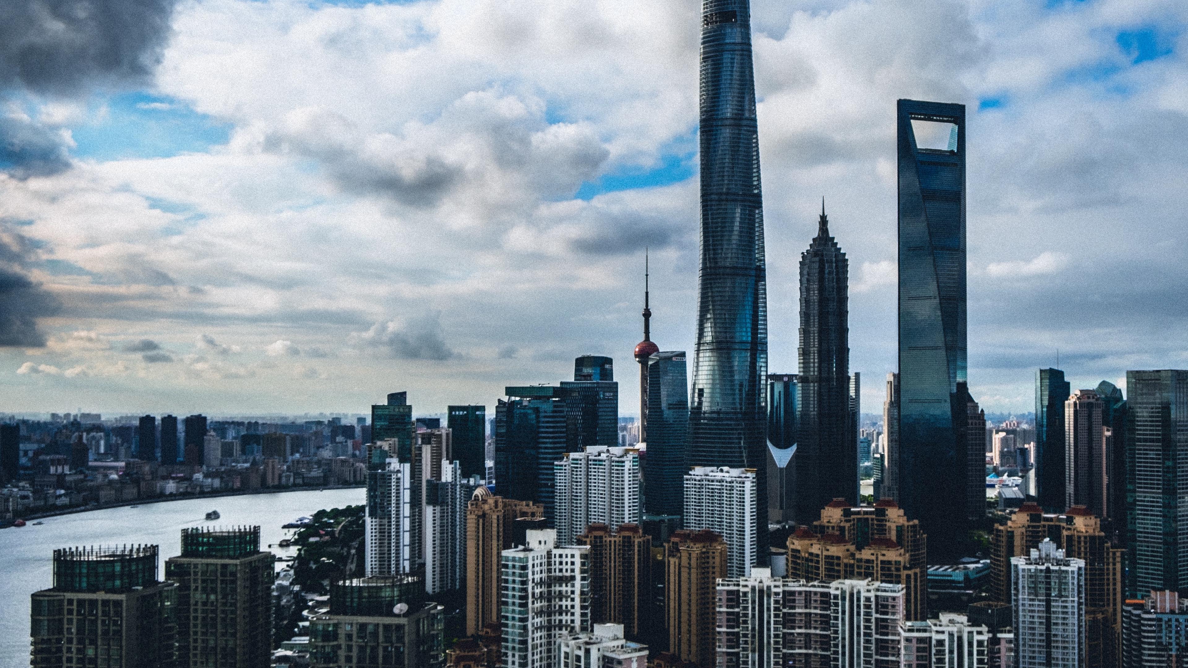 shanghai china skyscrapers buildings 4k 1538064889 - shanghai, china, skyscrapers, buildings 4k - Skyscrapers, Shanghai, China