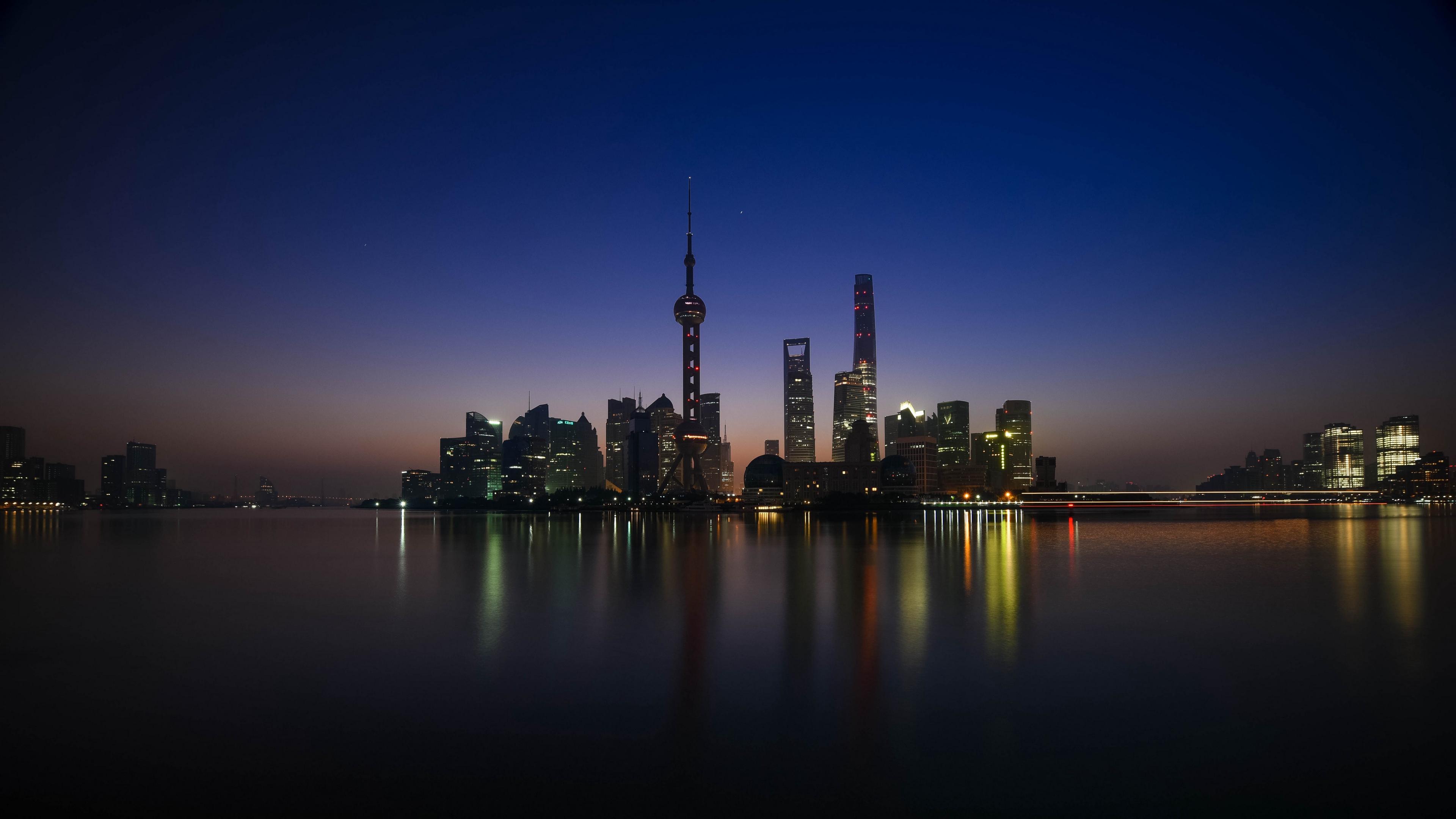 shanghai huangpu river shore 4k 1538066838 - shanghai, huangpu, river, shore 4k - Shanghai, River, Huangpu