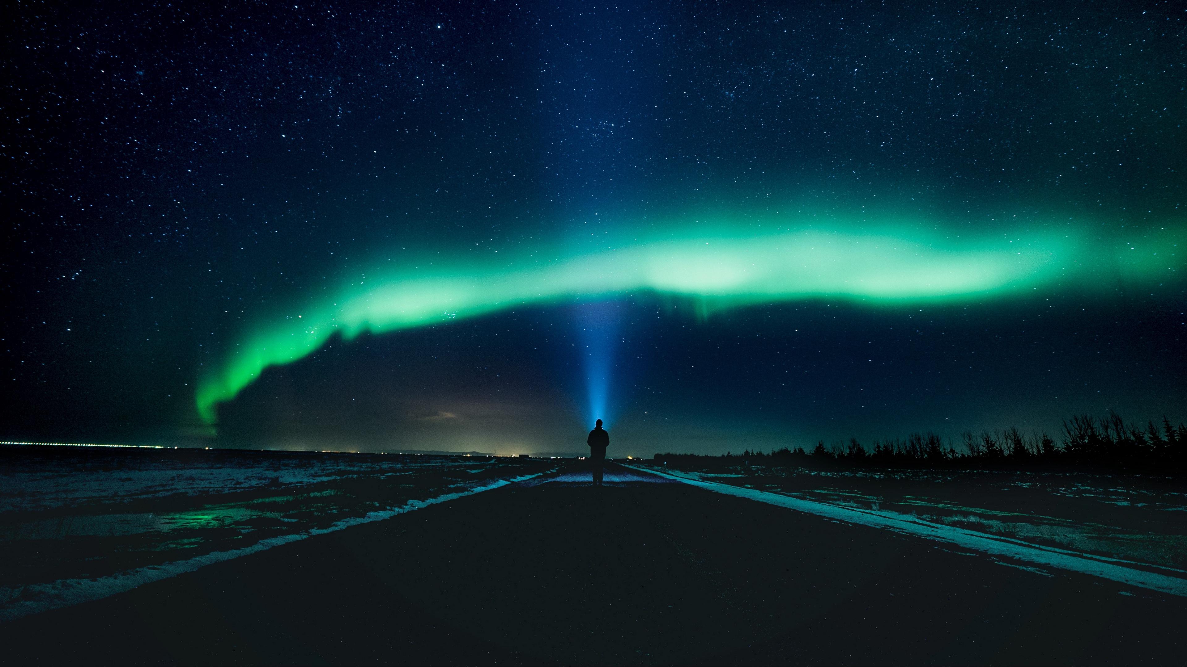 silhouette starry sky shining night 4k 1536016612 - silhouette, starry sky, shining, night 4k - starry sky, Silhouette, Shining