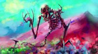 skeleton art bright colorful 4k 1536098892 200x110 - skeleton, art, bright, colorful 4k - skeleton, Bright, art