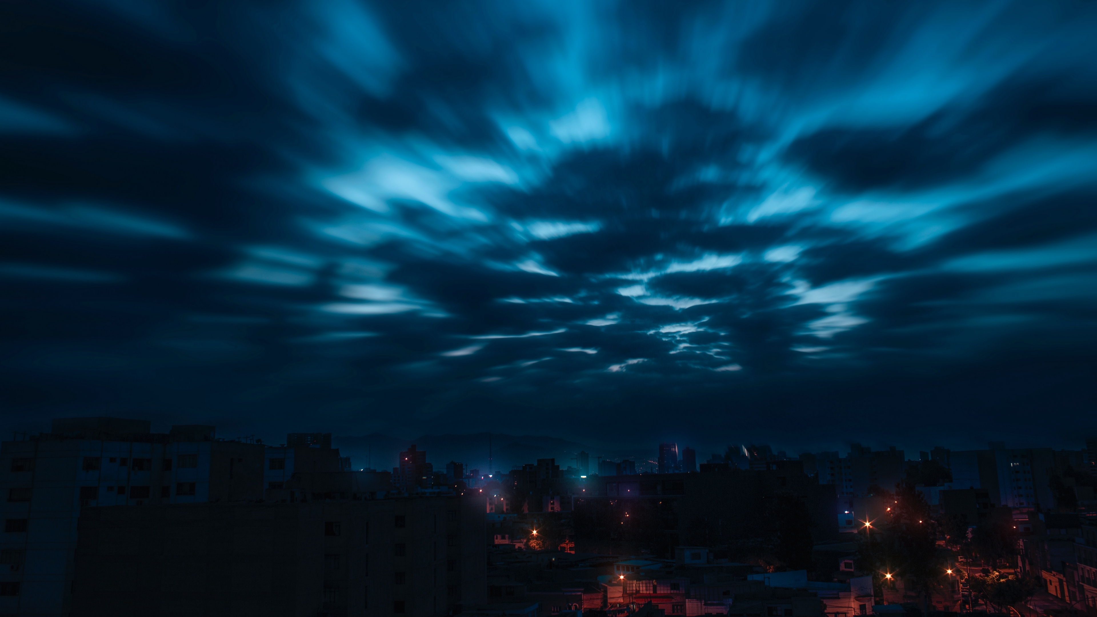 sky clouds night city 4k 1538068453 - sky, clouds, night, city 4k - Sky, Night, Clouds