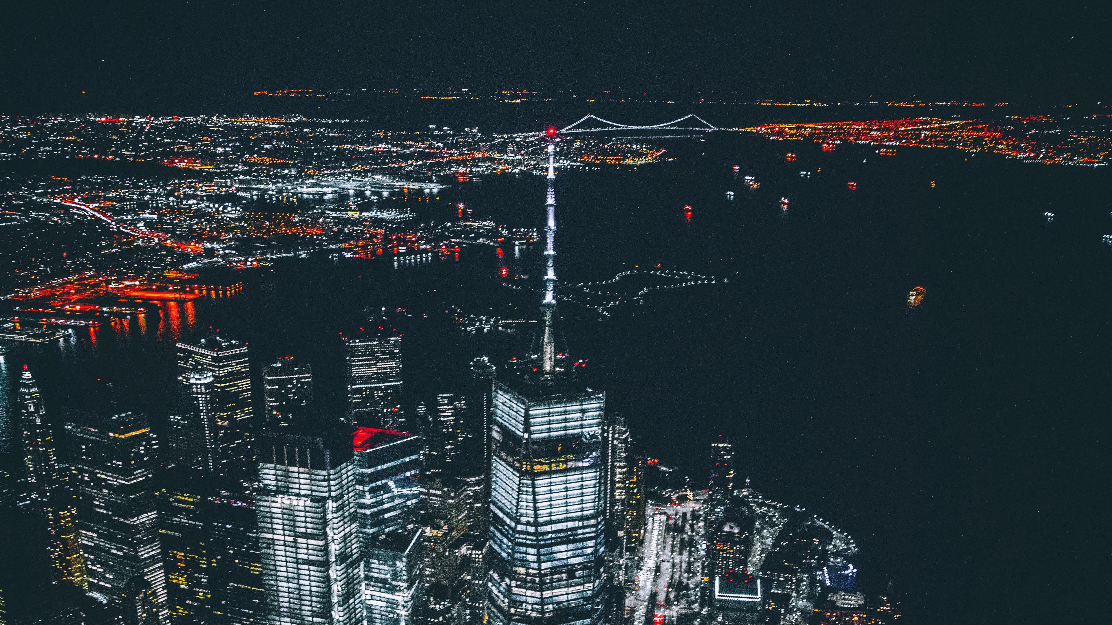 skyscrapers night city new york usa 4k 1538066154 - skyscrapers, night city, new york, usa 4k - Skyscrapers, night city, new york