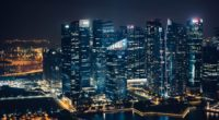 skyscrapers night city view from above 4k 1538067928 200x110 - skyscrapers, night city, view from above 4k - view from above, Skyscrapers, night city