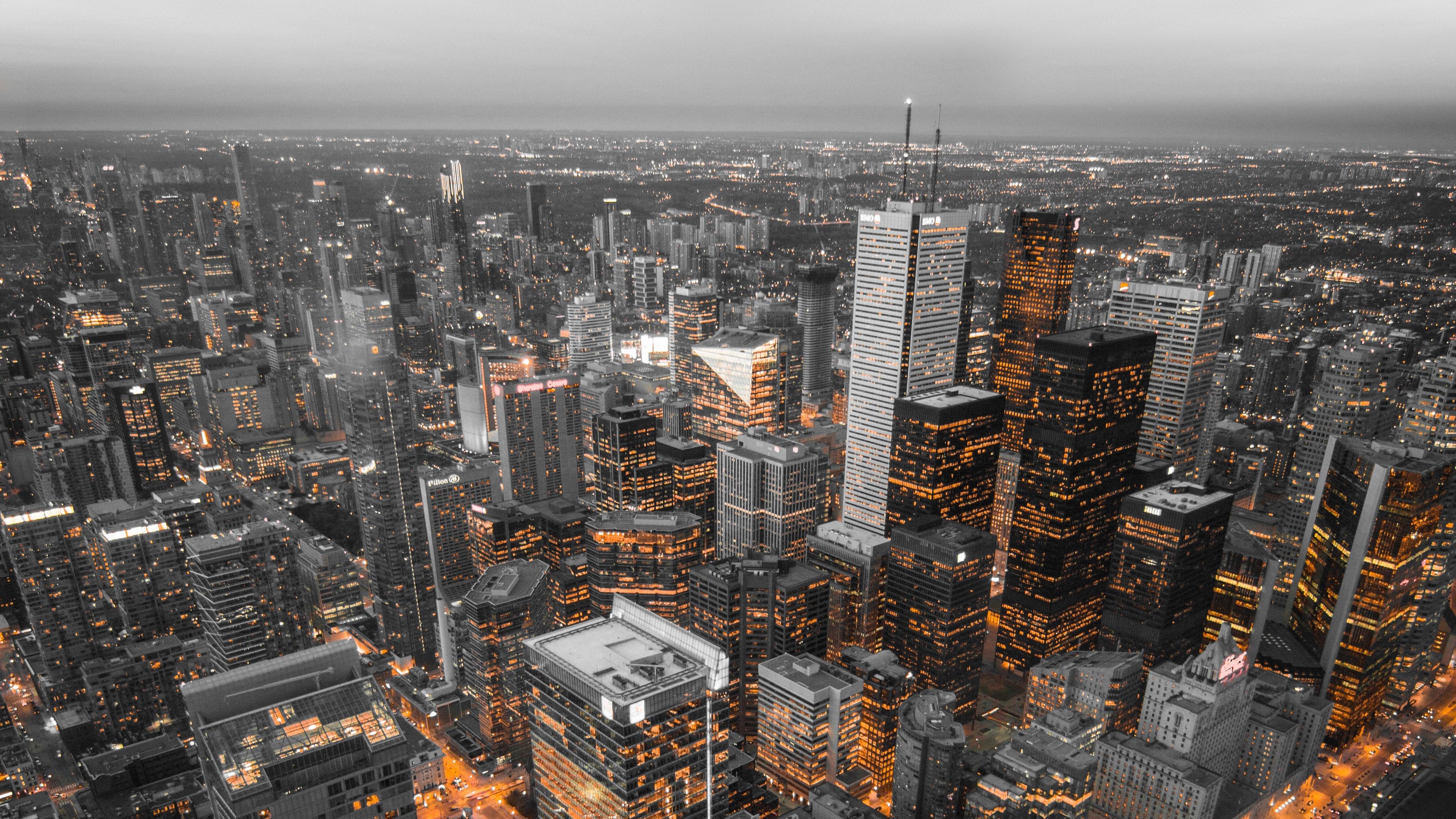 skyscrapers top view metropolis toronto canada 4k 1538066675 - skyscrapers, top view, metropolis, toronto, canada 4k - top view, Skyscrapers, metropolis