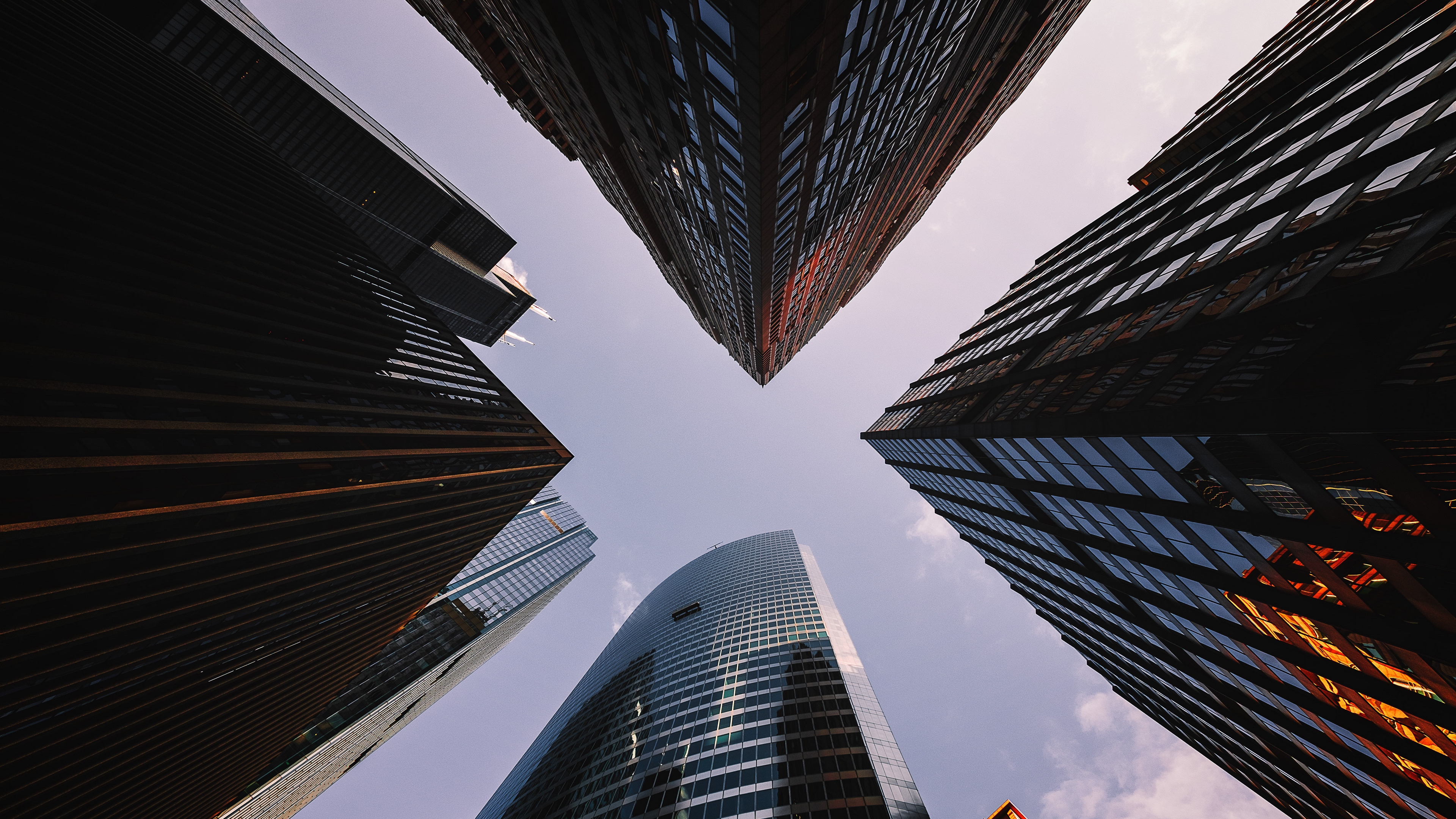 skyscrapers view from below architecture 4k 1538066592 - skyscrapers, view from below, architecture 4k - view from below, Skyscrapers, Architecture