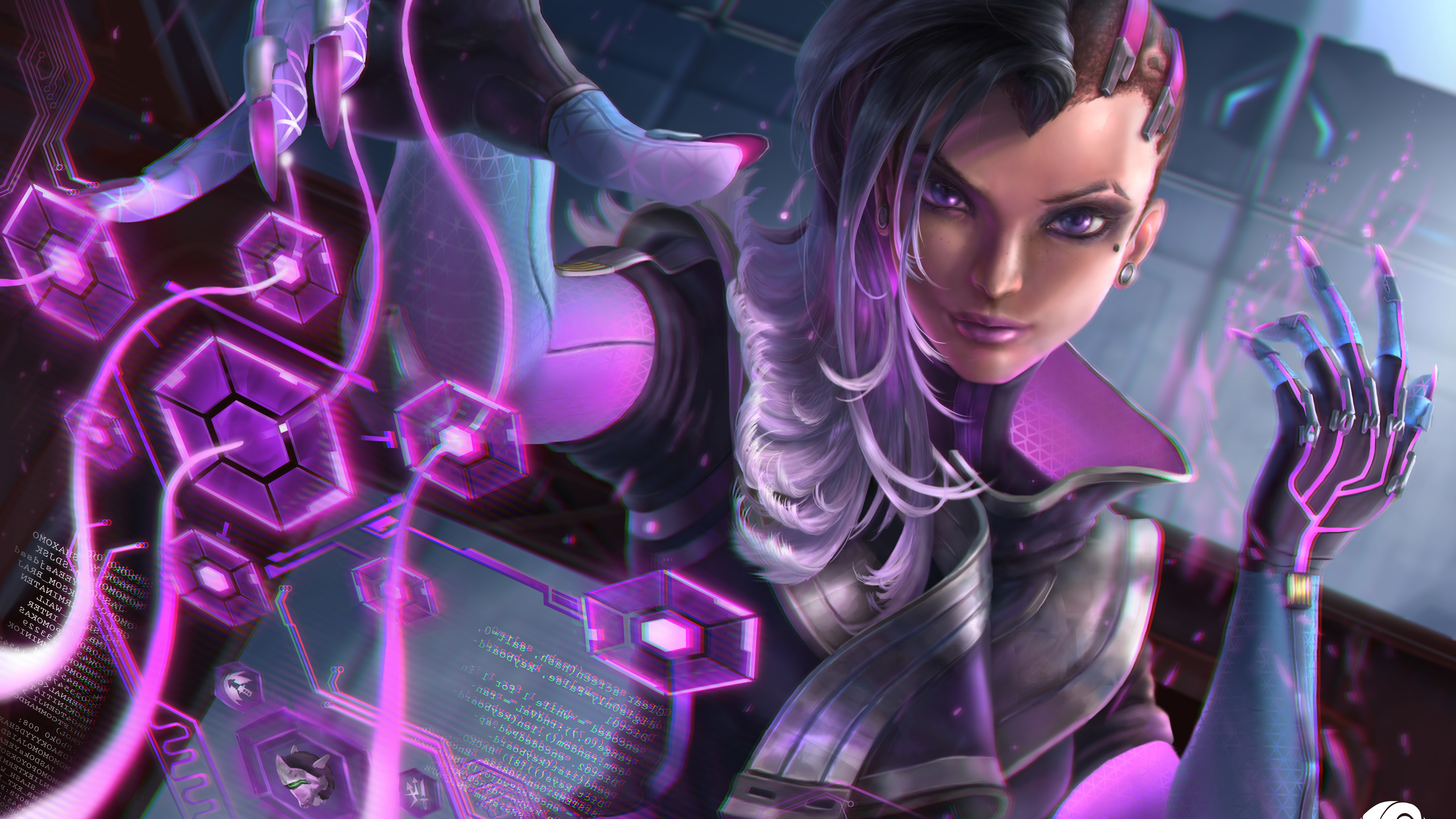 2048x2048 Sombra Overwatch Hd Ipad Air Hd 4k Wallpapers: Sombra Overwatch Art 5k Sombra Wallpapers, Overwatch