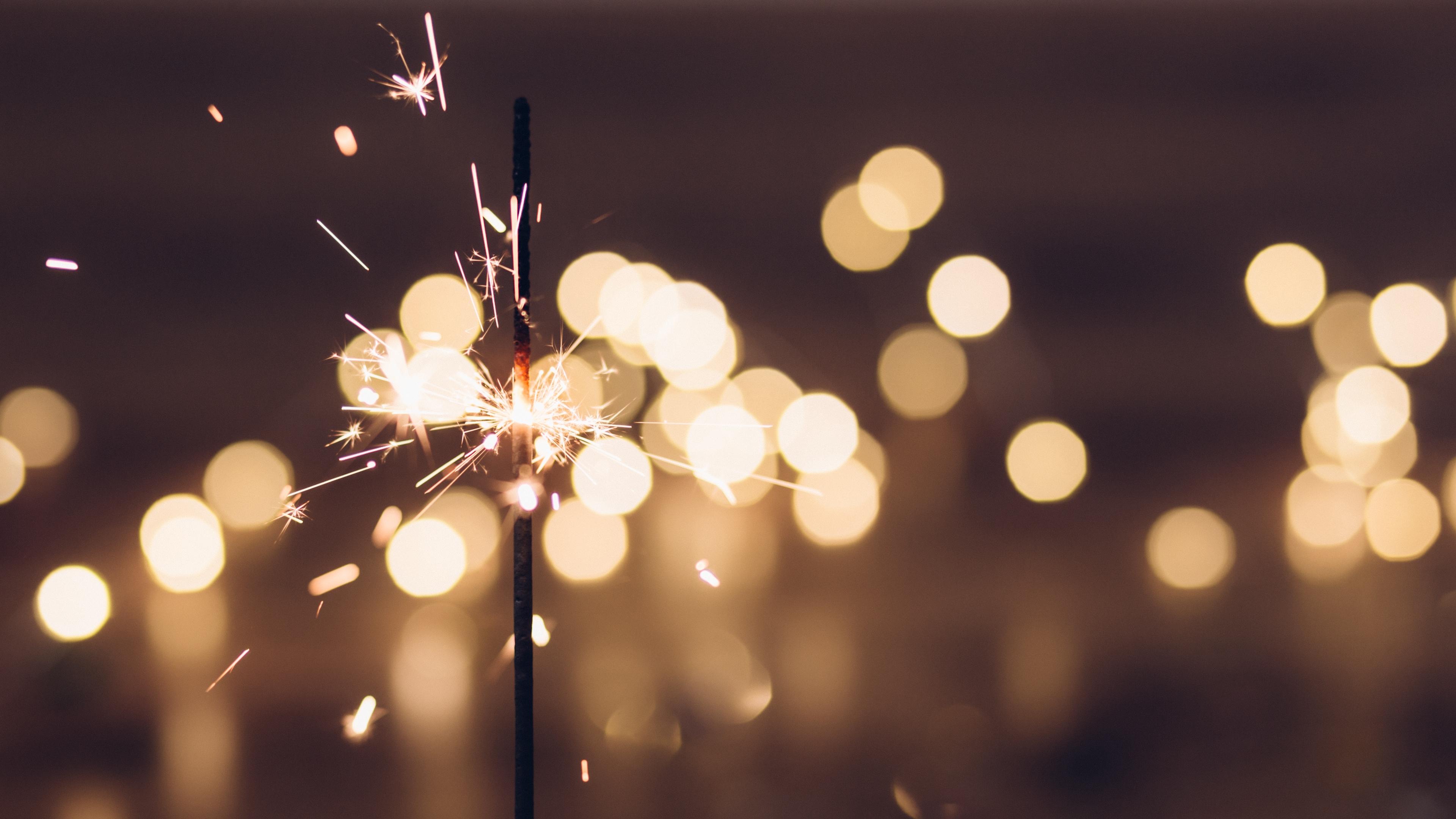 sparkler sparks glare 4k 1538344909 - sparkler, sparks, glare 4k - Sparks, sparkler, glare