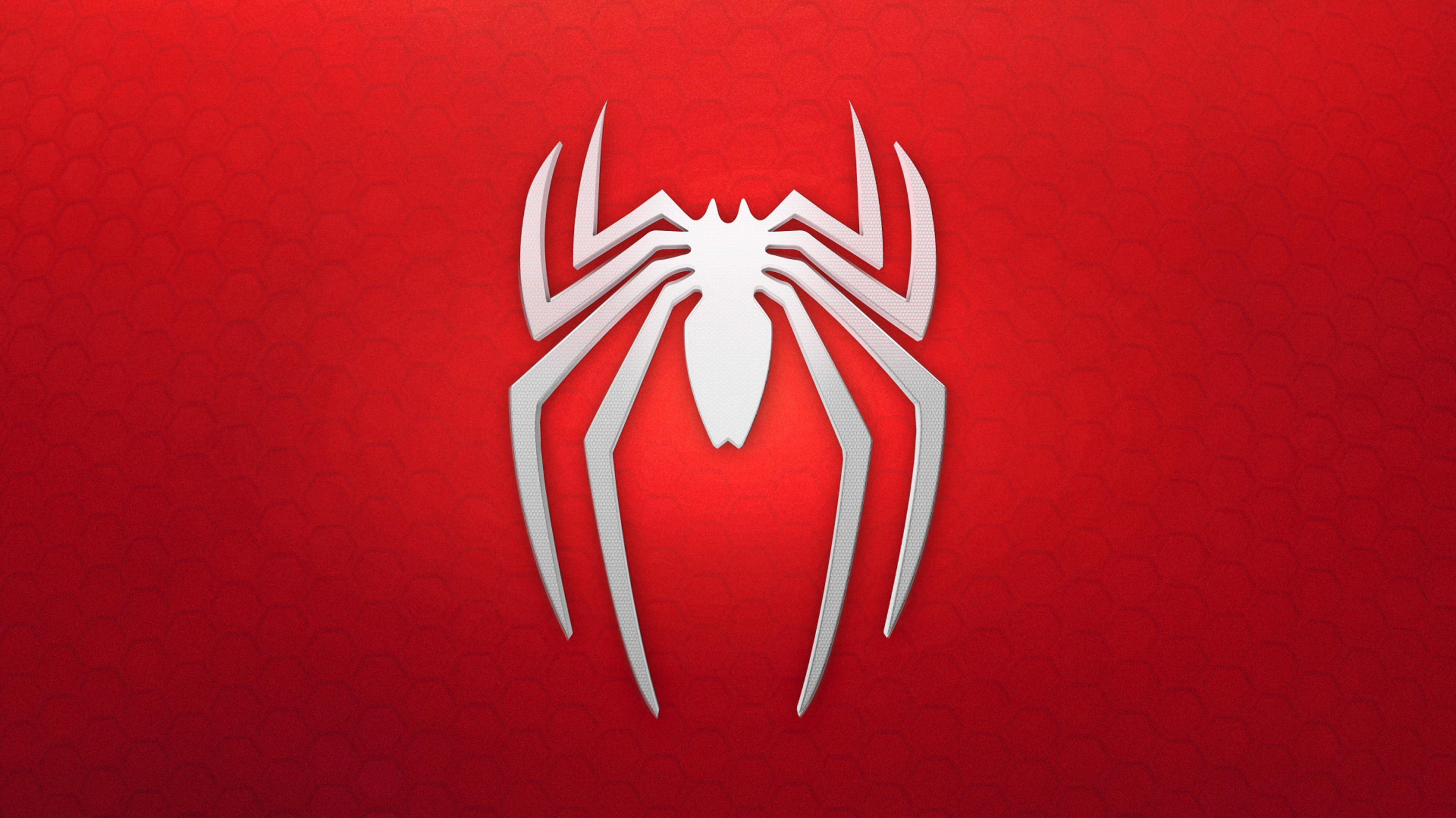Wallpaper 4k Spiderman 4k Logo Background 4k Wallpapers Logo