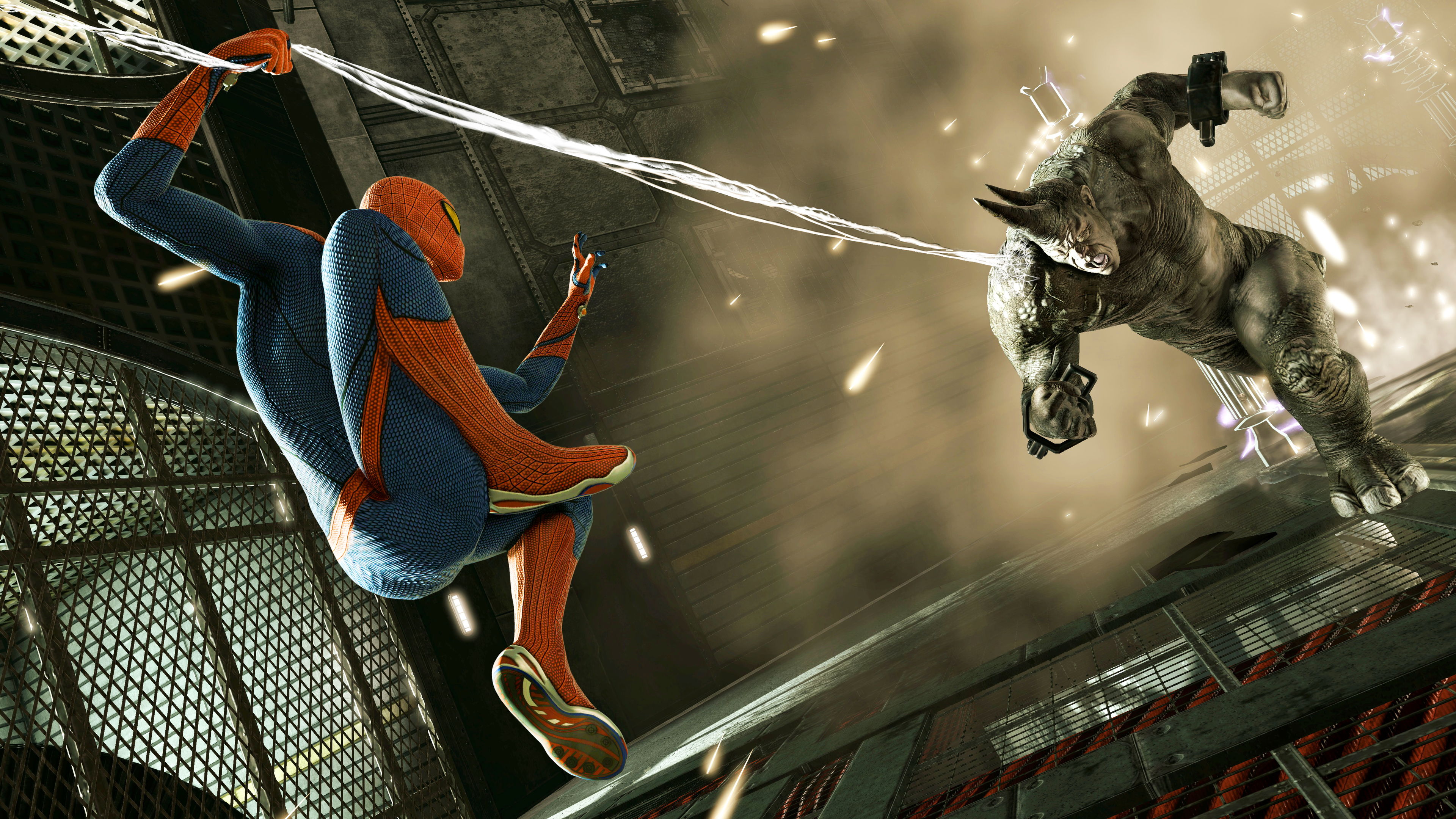 spiderman and rhino 1536522612 - Spiderman And Rhino - superheroes wallpapers, spiderman wallpapers, rhino wallpapers, hd-wallpapers, games wallpapers, 5k wallpapers, 4k-wallpapers