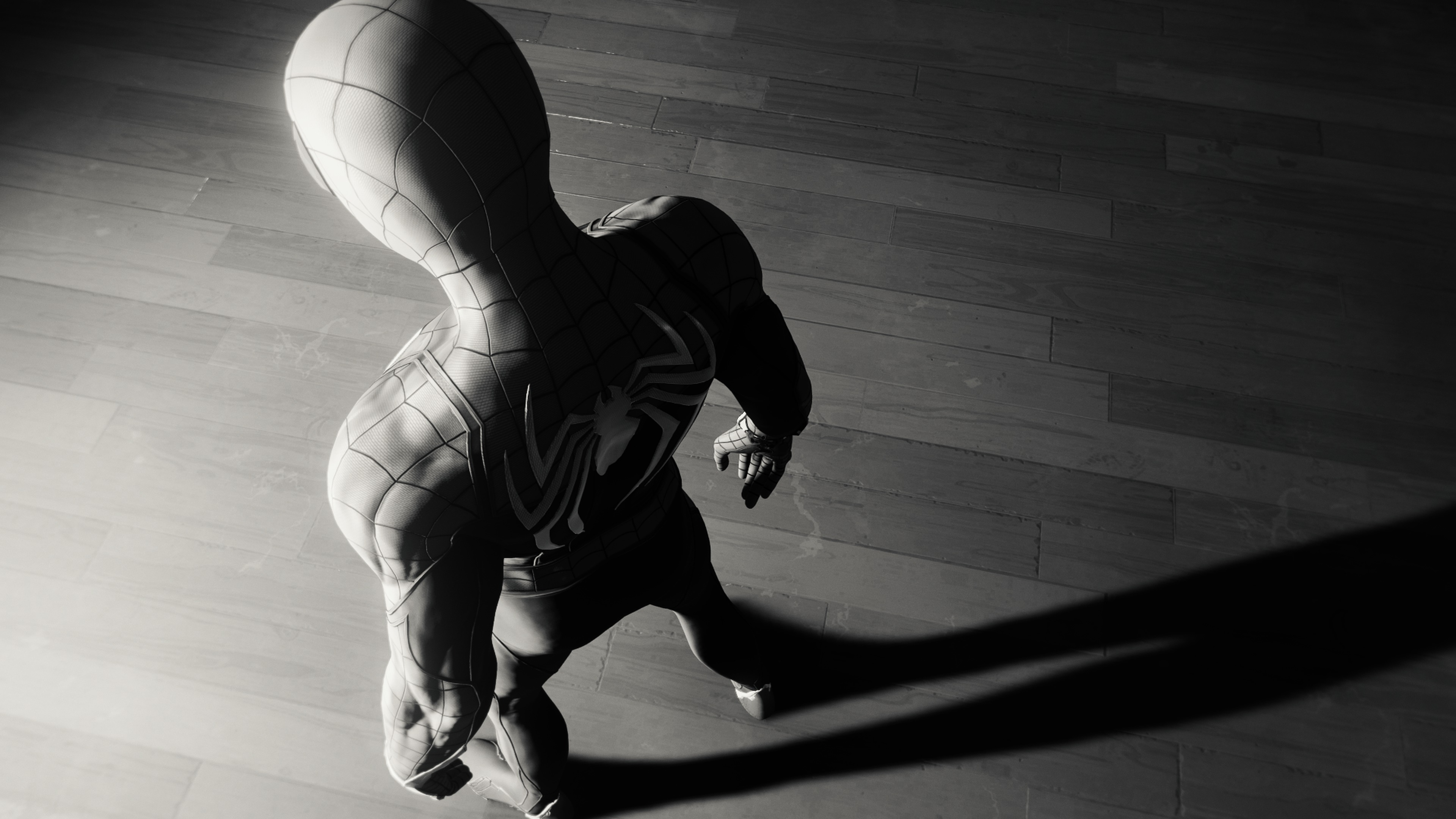 Wallpaper 4k Spiderman Game Spider Logo 4k Monochrome 2018 Games