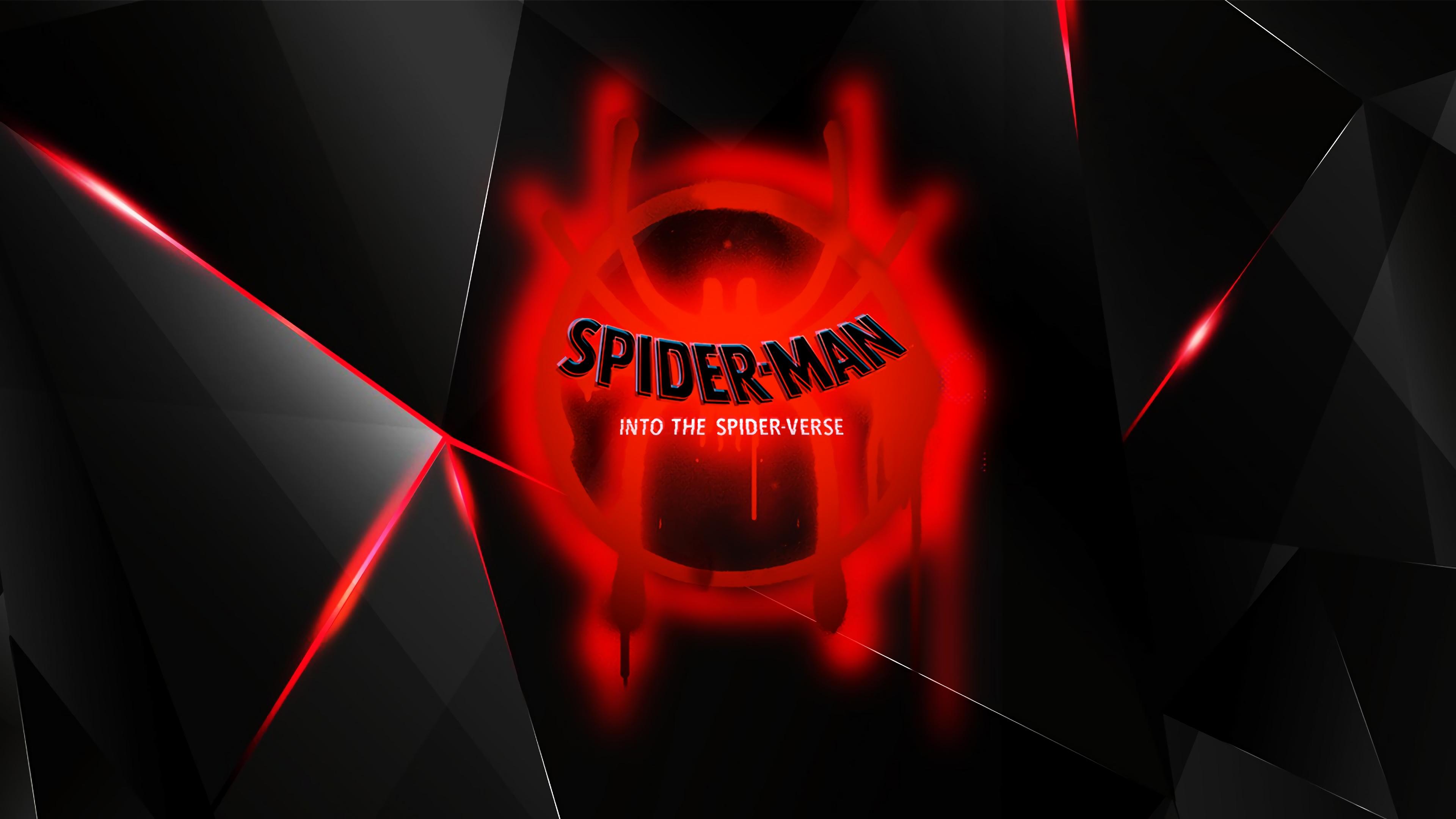 Wallpaper 4k Spiderman Into The Spider Verse Movie 2018 Logo 2018