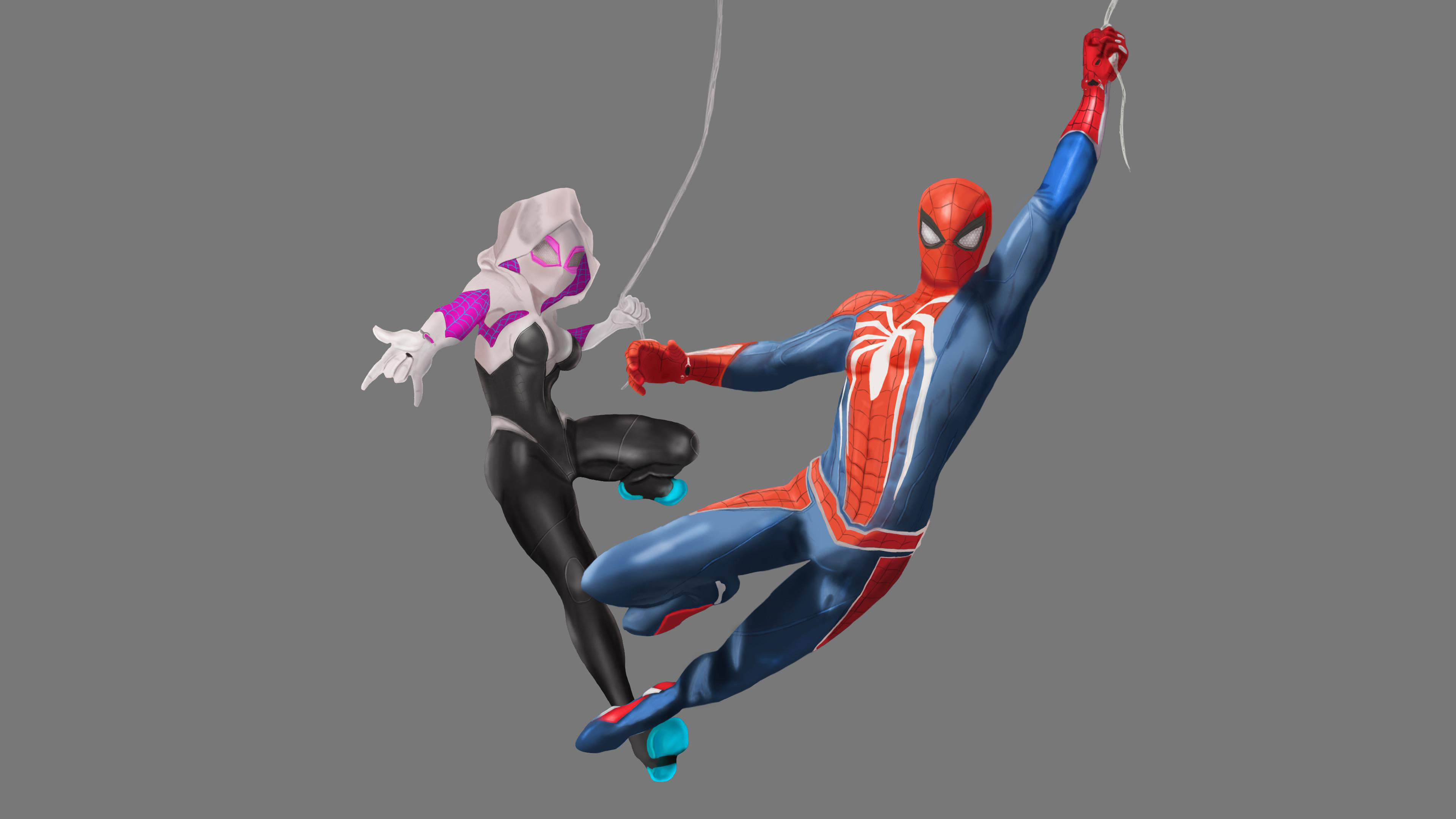spiderman ps4 and spider gwen art 1536523727 - Spiderman Ps4 And Spider Gwen Art - superheroes wallpapers, spiderman wallpapers, reddit wallpapers, ps4 games wallpapers, ps games wallpapers, hd-wallpapers, gwen stacy wallpapers, games wallpapers, artwork wallpapers, artist wallpapers, 4k-wallpapers