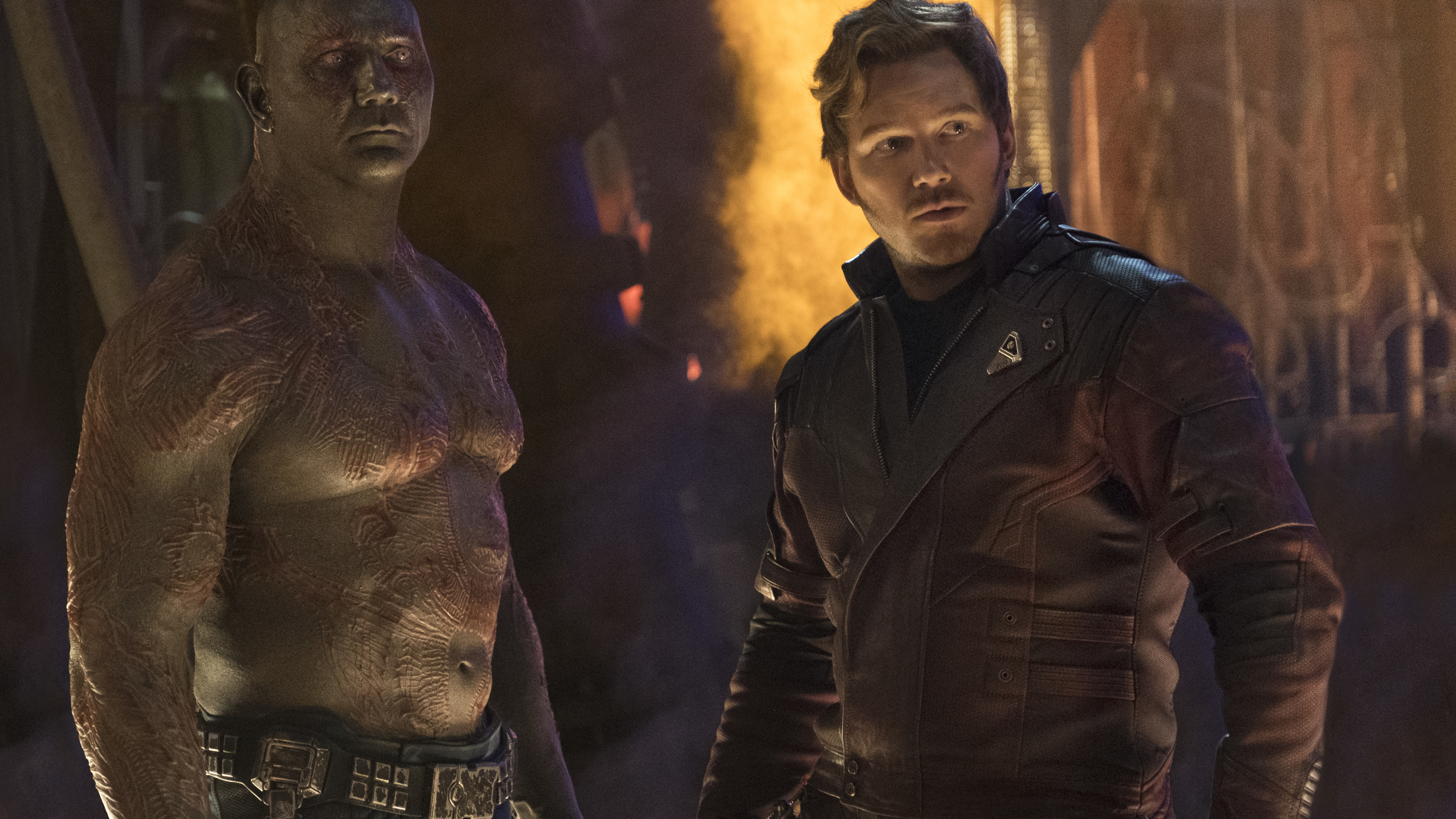 star lord and drax the destroyer in avengers infinity war 2018 4k 1537645707 - Star Lord And Drax The Destroyer In Avengers Infinity War 2018 4k - star lord wallpapers, movies wallpapers, hd-wallpapers, drax the destroyer wallpapers, avengers-infinity-war-wallpapers, 5k wallpapers, 4k-wallpapers, 2018-movies-wallpapers