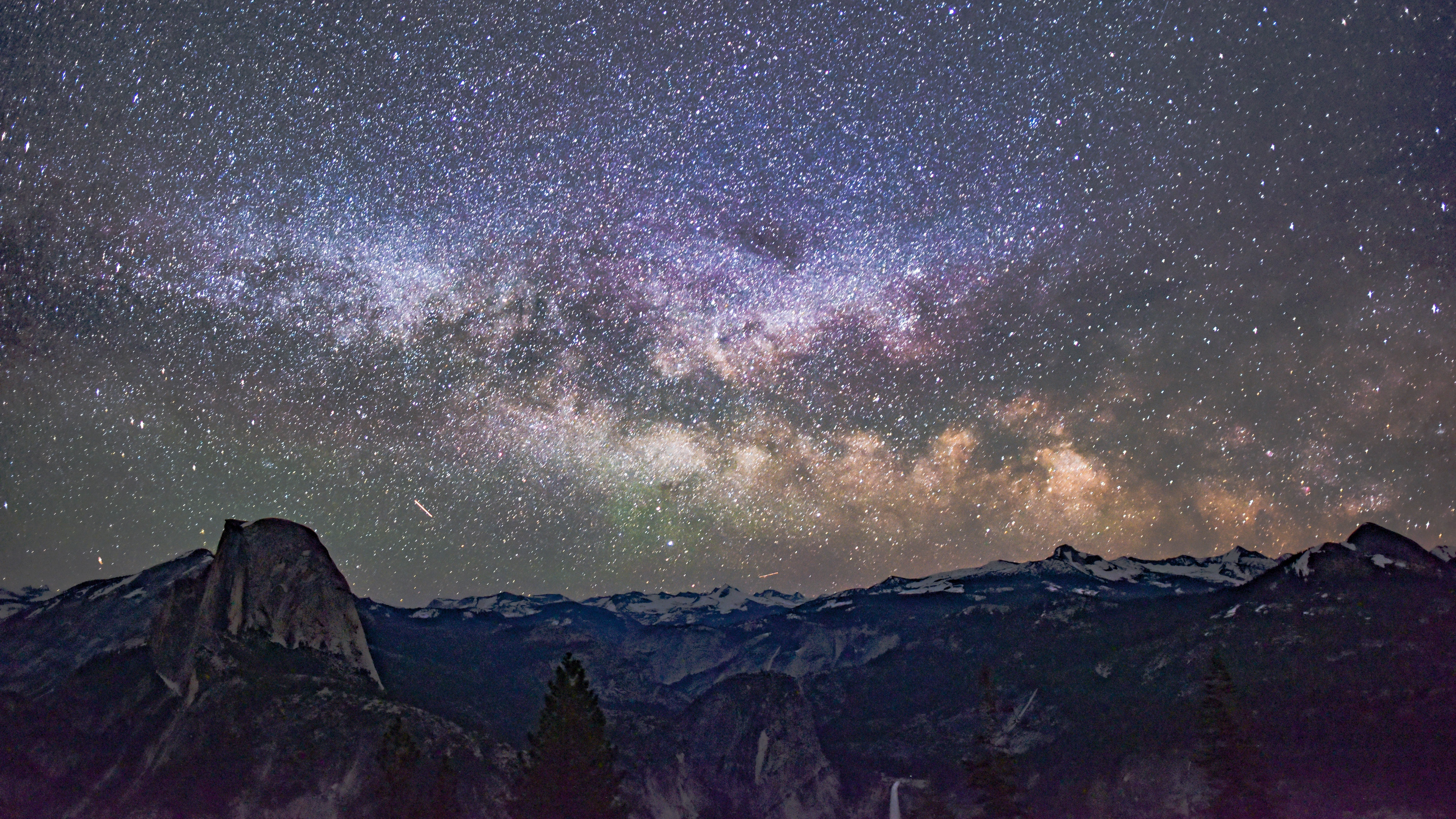 starry sky mountains galaxy universe 4k 1536013923 - starry sky, mountains, galaxy, universe 4k - starry sky, Mountains, Galaxy