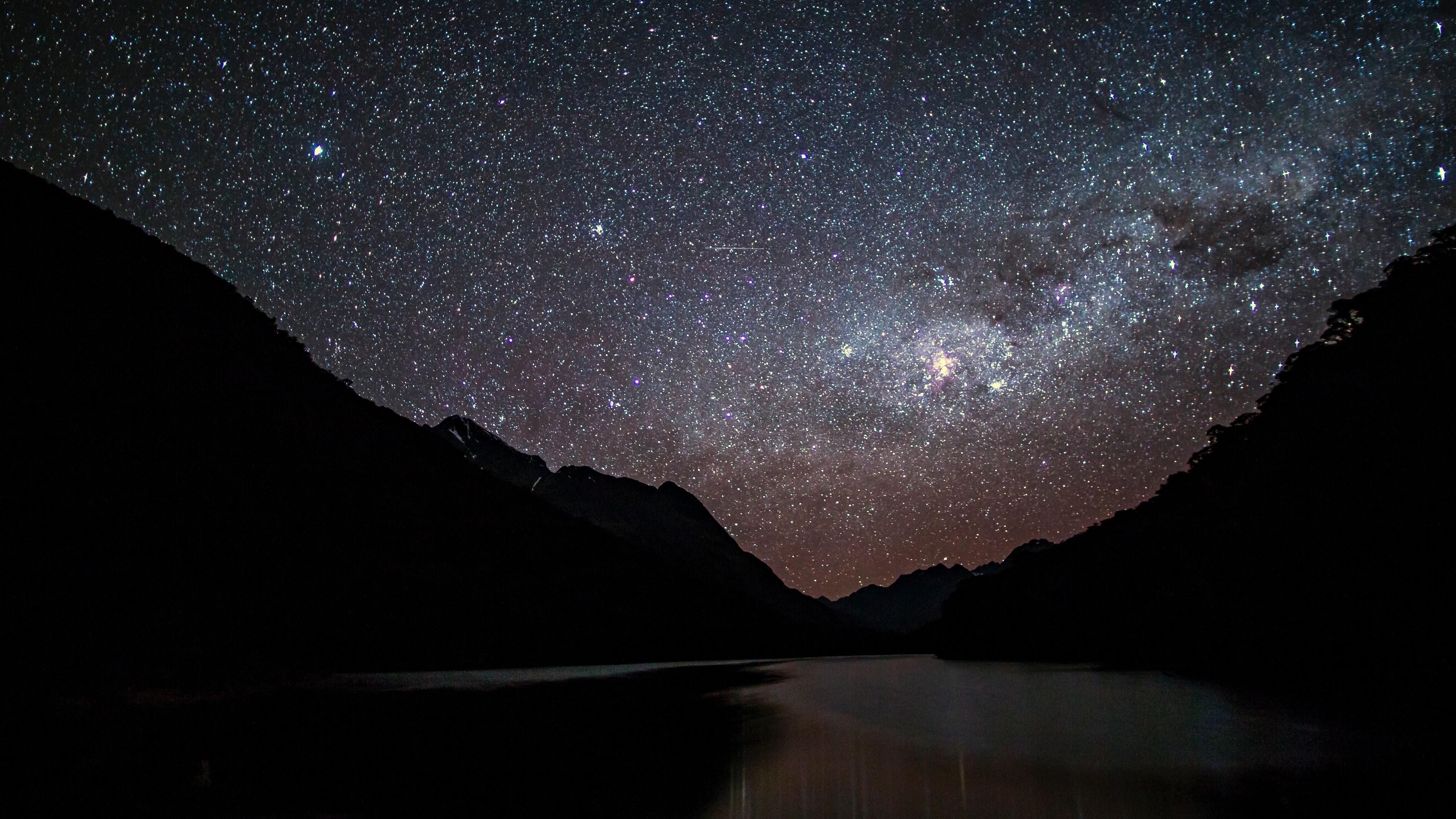 starry sky night mountains 4k 1536013926 - starry sky, night, mountains 4k - starry sky, Night, Mountains