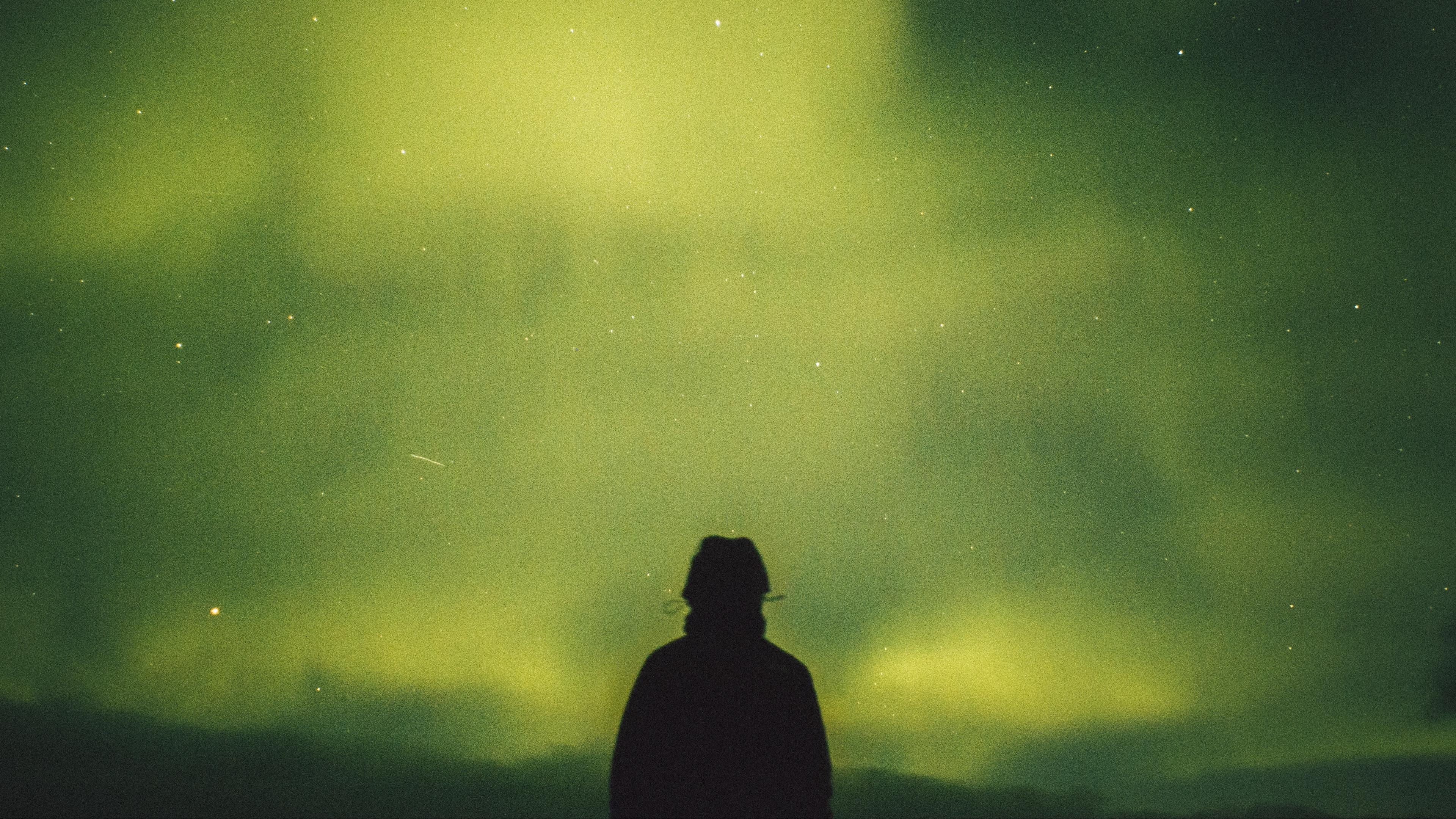 starry sky night silhouette 4k 1536013802 - starry sky, night, silhouette 4k - starry sky, Silhouette, Night