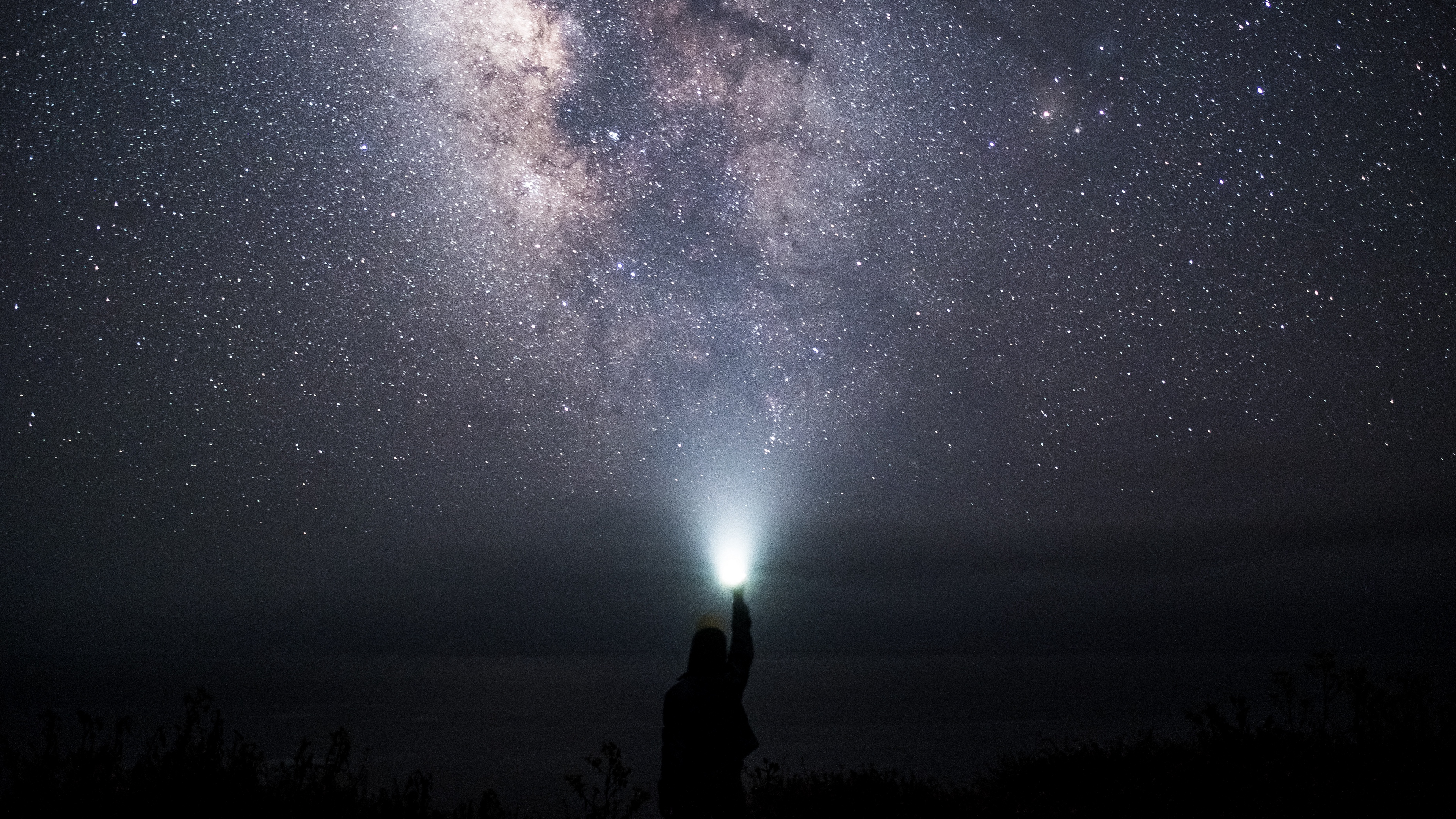 starry sky sky space light man 4k 1536013788 - starry sky, sky, space, light, man 4k - starry sky, Space, Sky