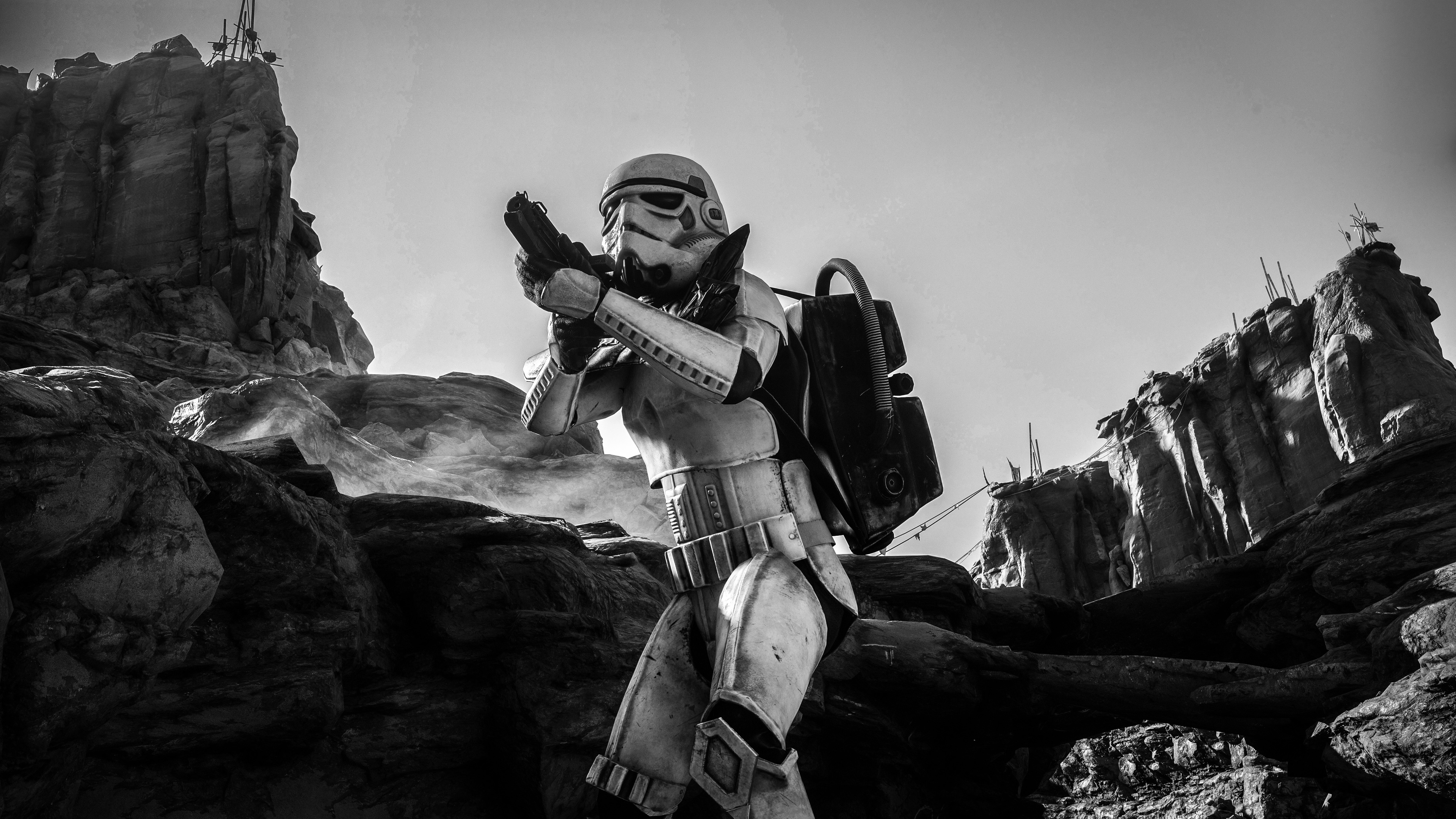 Wallpaper 4k Stormtrooper 5k Wallpapers Black And White