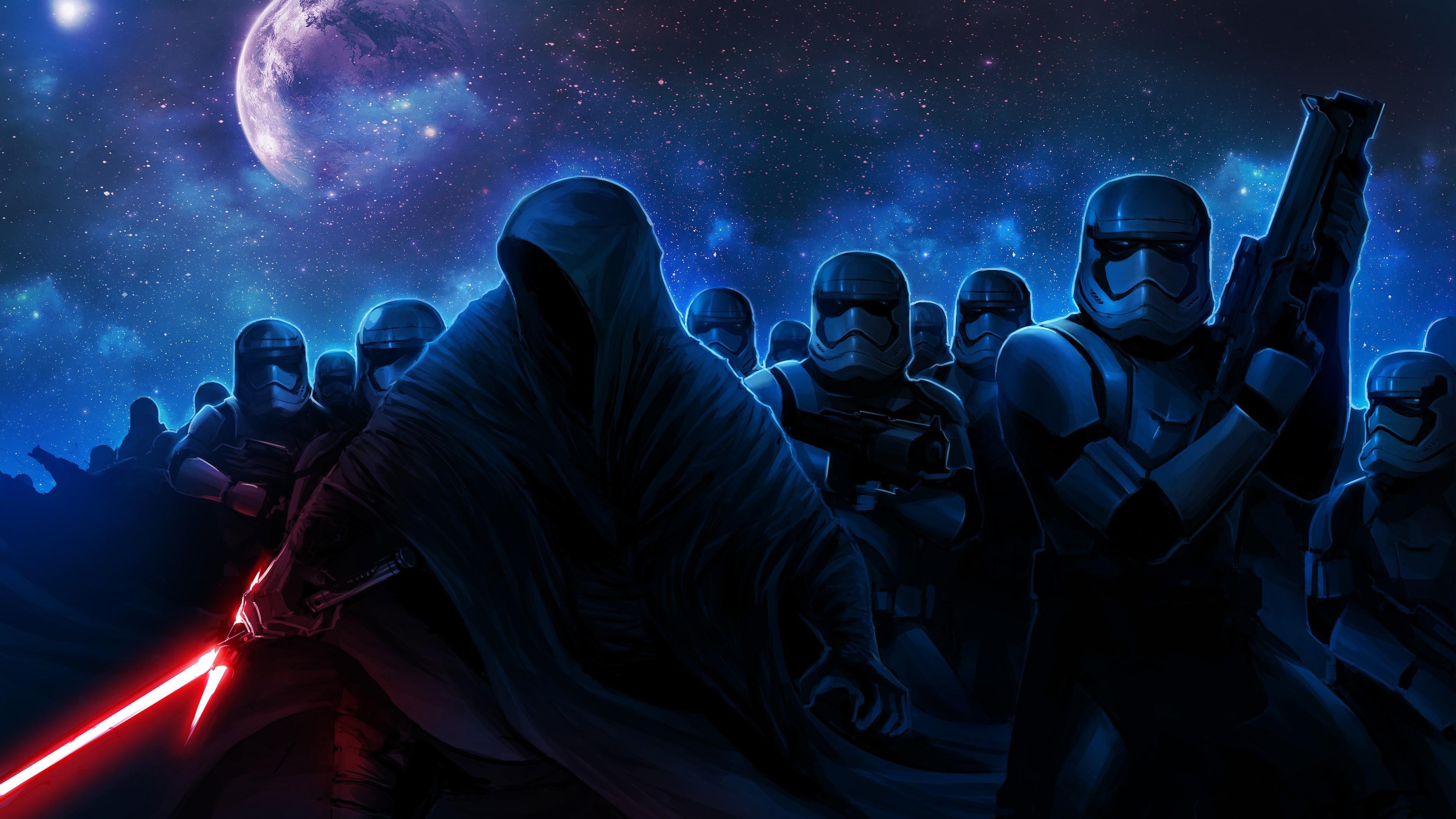 Wallpaper 4k Stormtroopers Darth Vader Darth Vader