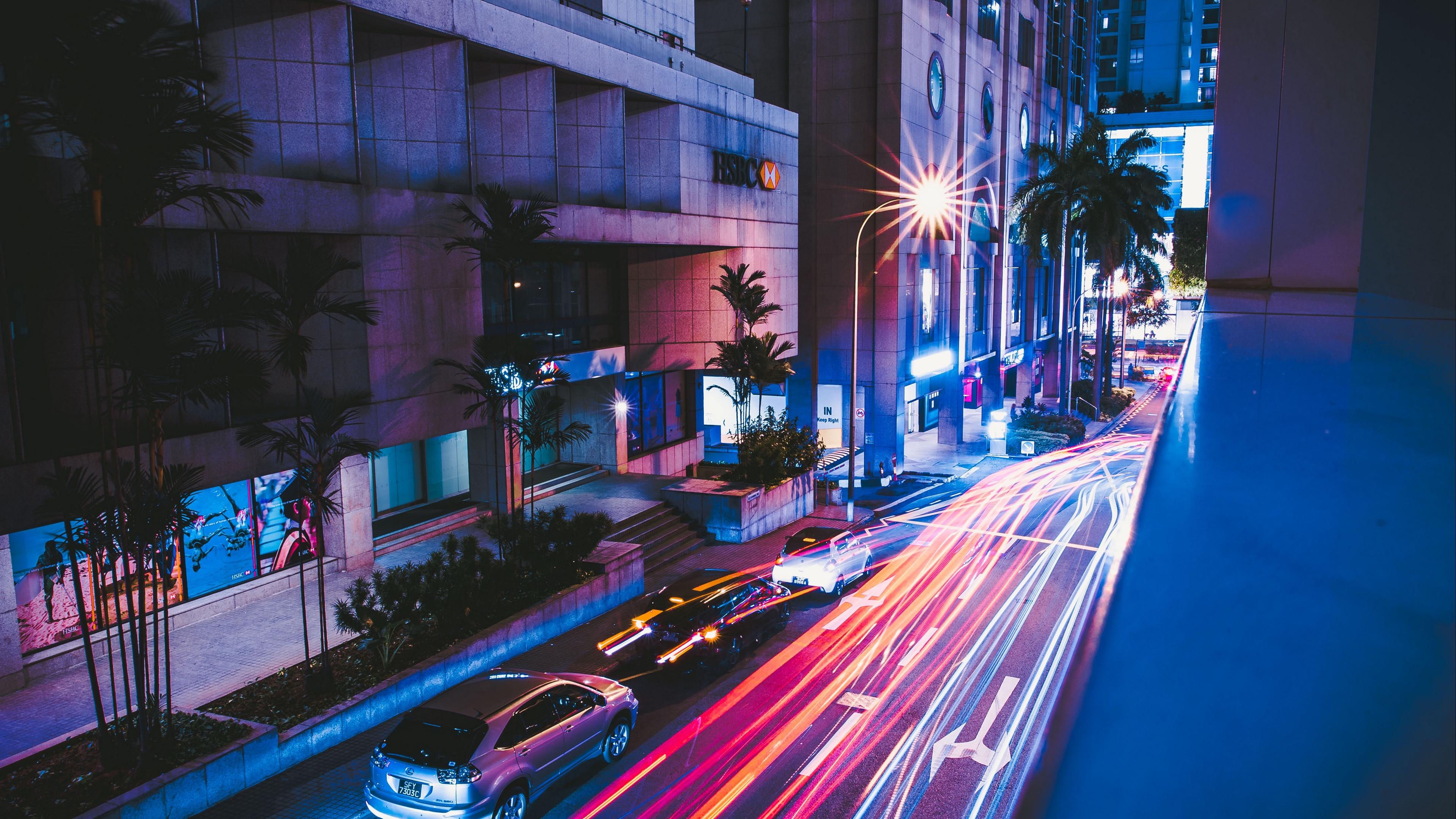 street city night cars 4k 1538065467 - street, city, night, cars 4k - Street, Night, City