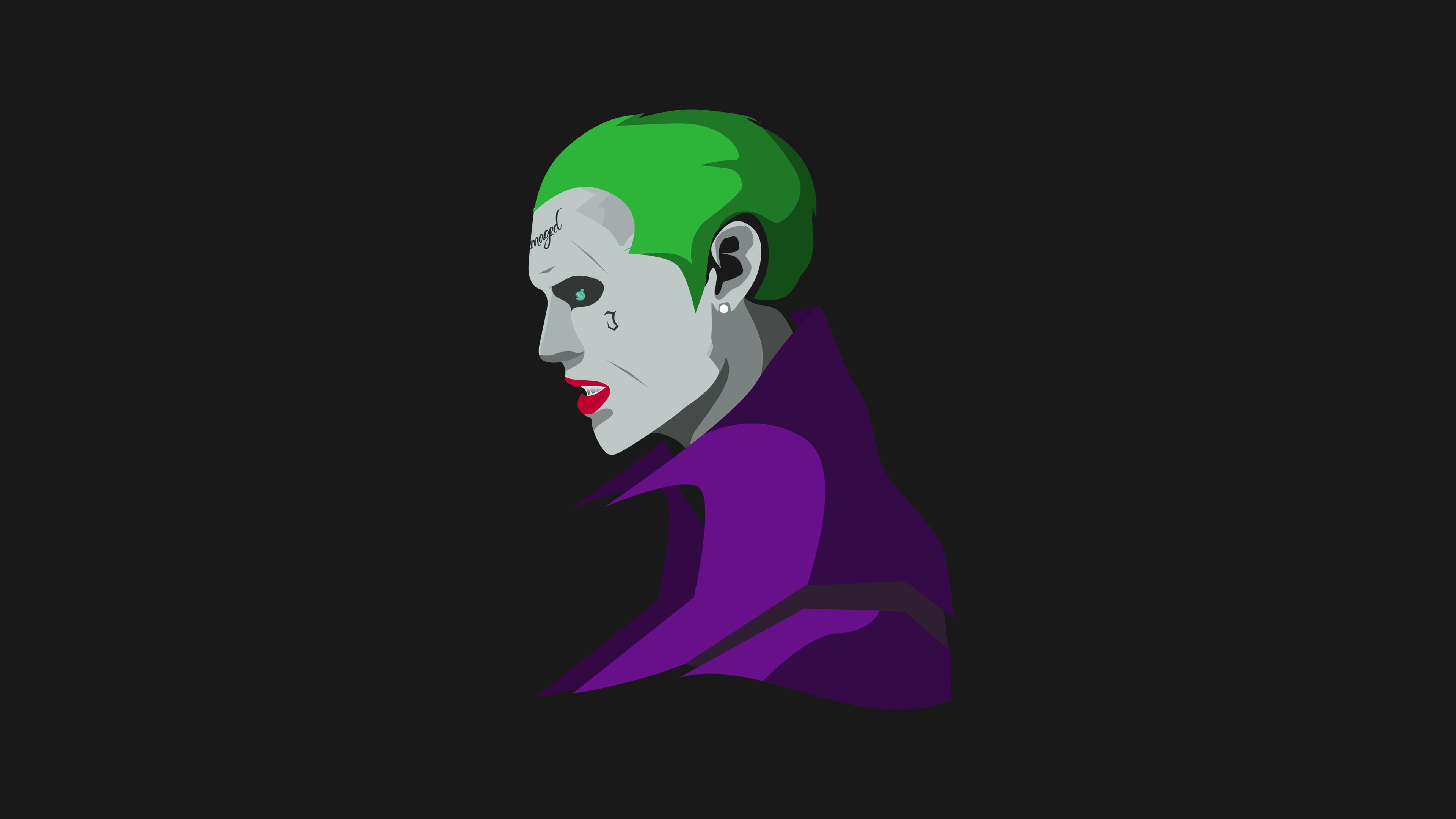Wallpaper 4k Suicide Squad Joker Minimalism 4k Wallpapers