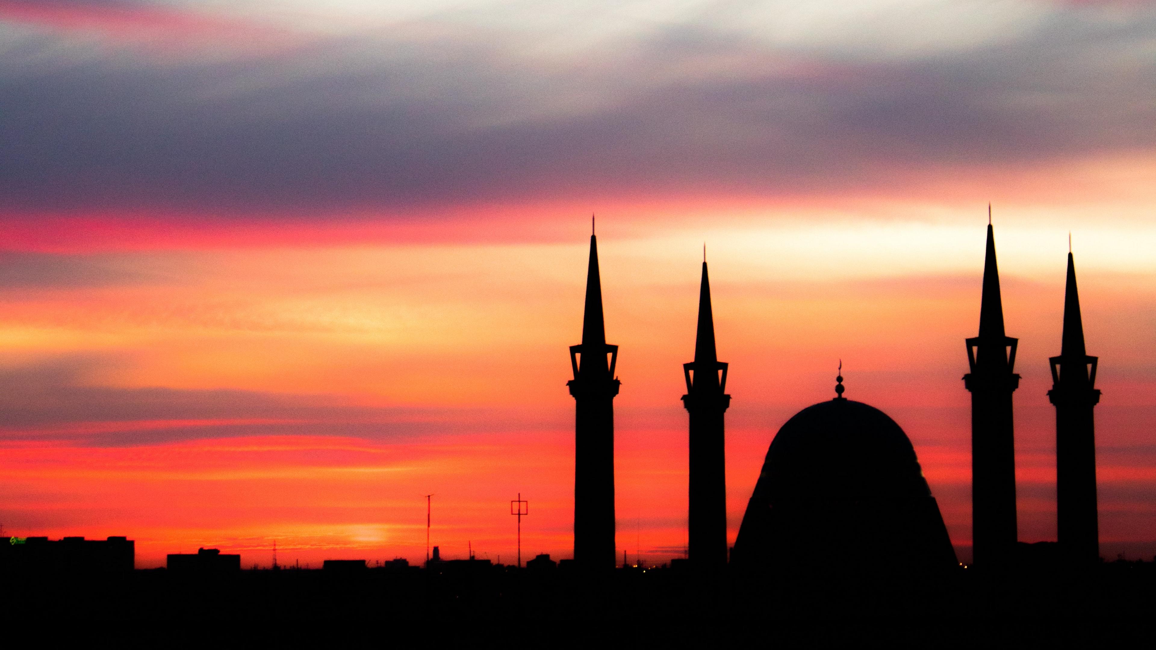 sunset architecture mosque sky 4k 1538064676 - sunset, architecture, mosque, sky 4k - sunset, Mosque, Architecture