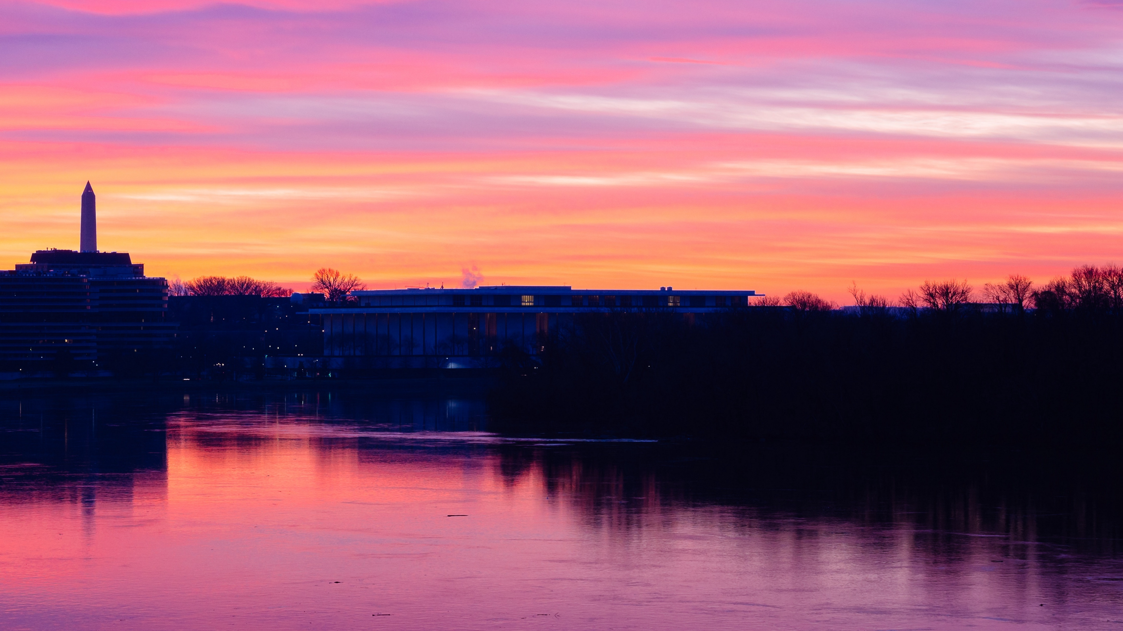 sunset river building sky 4k 1538065307 - sunset, river, building, sky 4k - sunset, River, Building