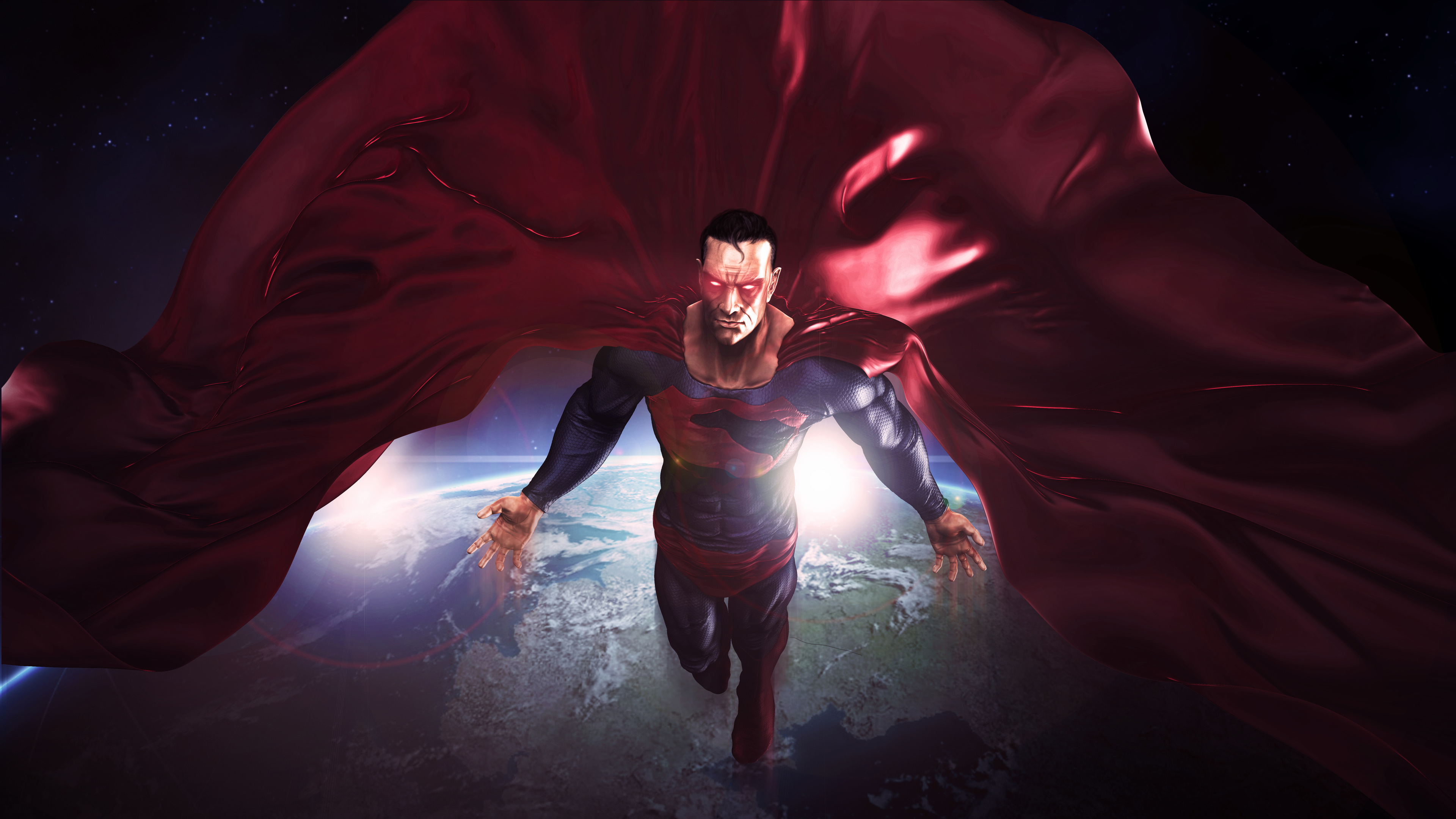 superman in the space red cape flying artwork 8k 1536523873 - Superman In The Space Red Cape Flying Artwork 8k - superman wallpapers, superheroes wallpapers, hd-wallpapers, digital art wallpapers, deviantart wallpapers, artwork wallpapers, artist wallpapers, 8k wallpapers, 5k wallpapers, 4k-wallpapers