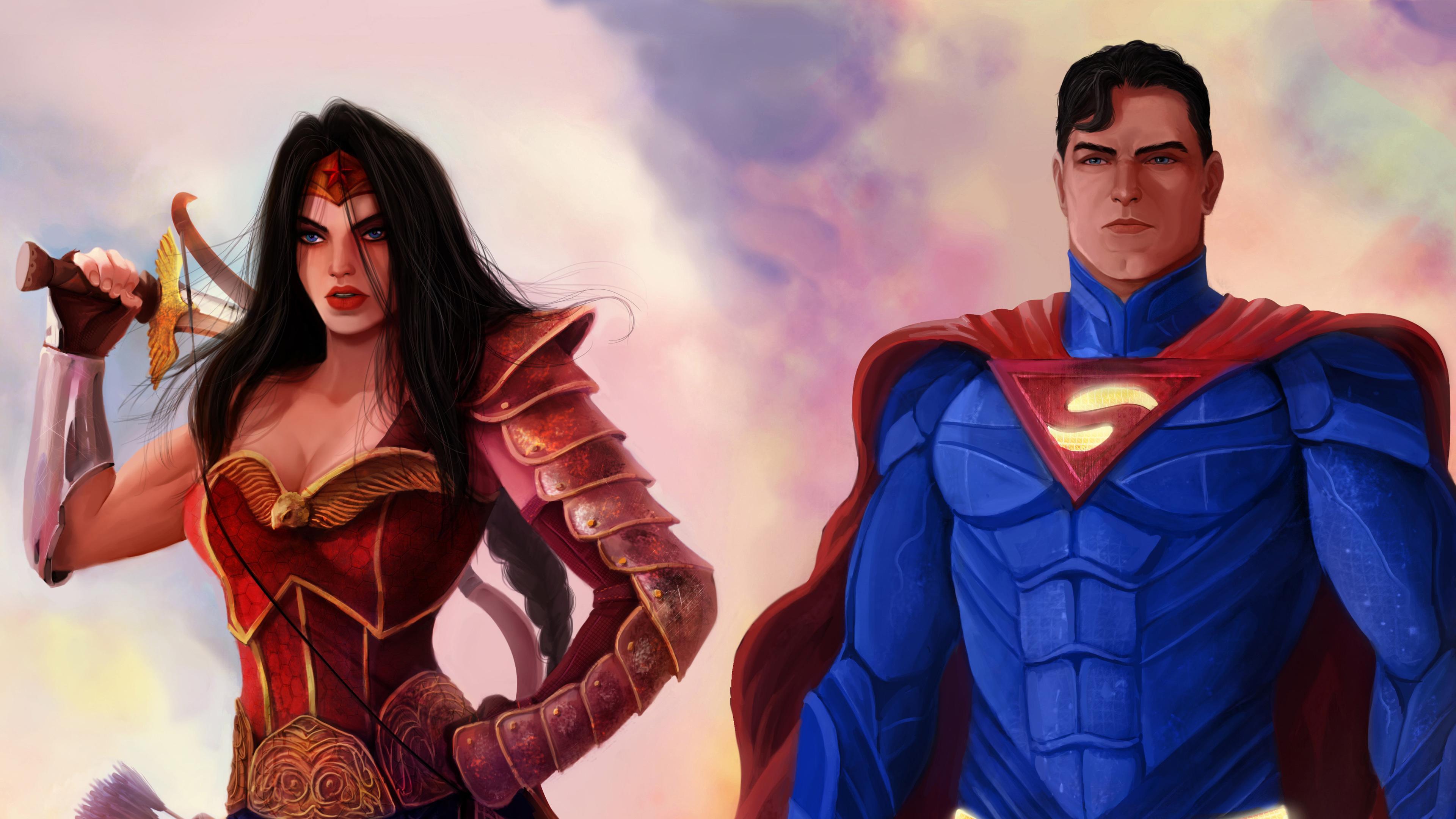 superman wonder woman 4k 1537646002 - Superman Wonder Woman 4k - wonder woman wallpapers, superman wallpapers, superheroes wallpapers, hd-wallpapers, digital art wallpapers, artwork wallpapers, 4k-wallpapers