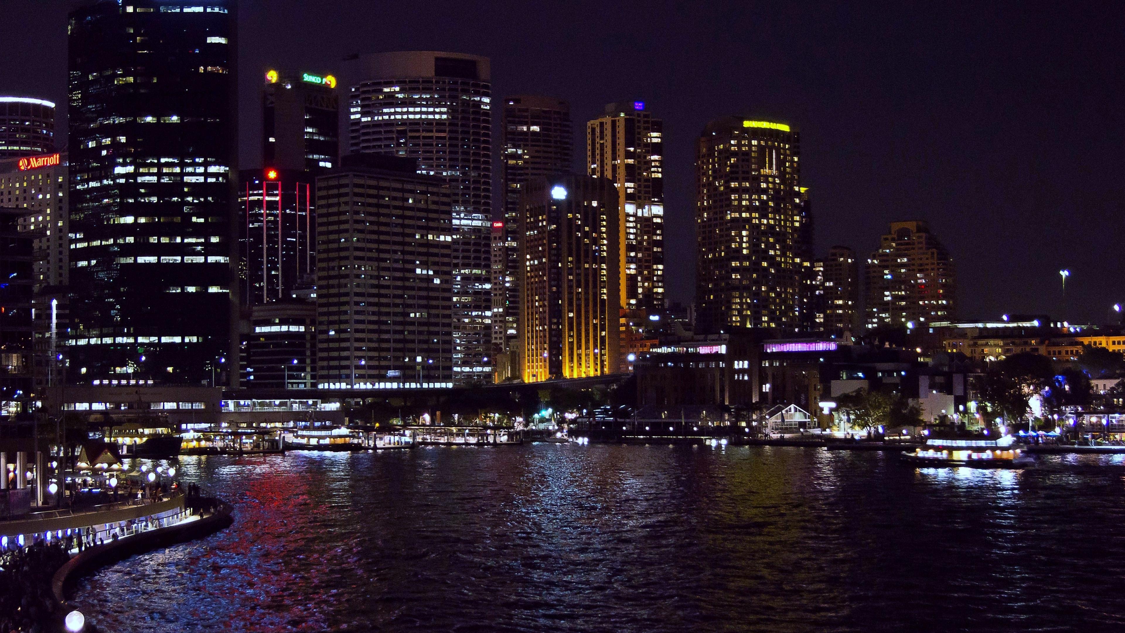 sydney australia night 4k 1538068711 - sydney, australia, night 4k - Sydney, Night, Australia