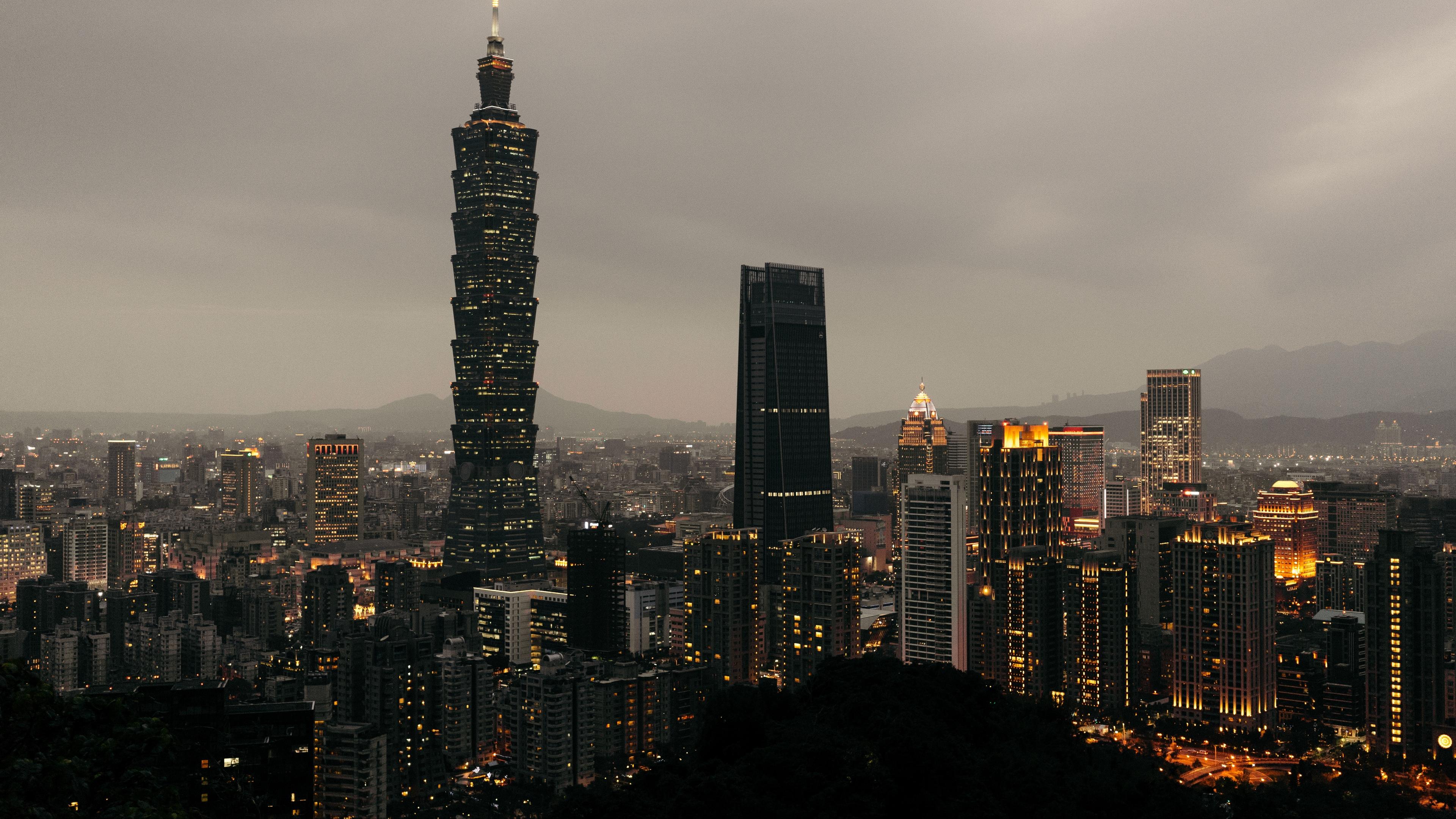 taipei taiwan skyscrapers evening 4k 1538068202 - taipei, taiwan, skyscrapers, evening 4k - Taiwan, Taipei, Skyscrapers