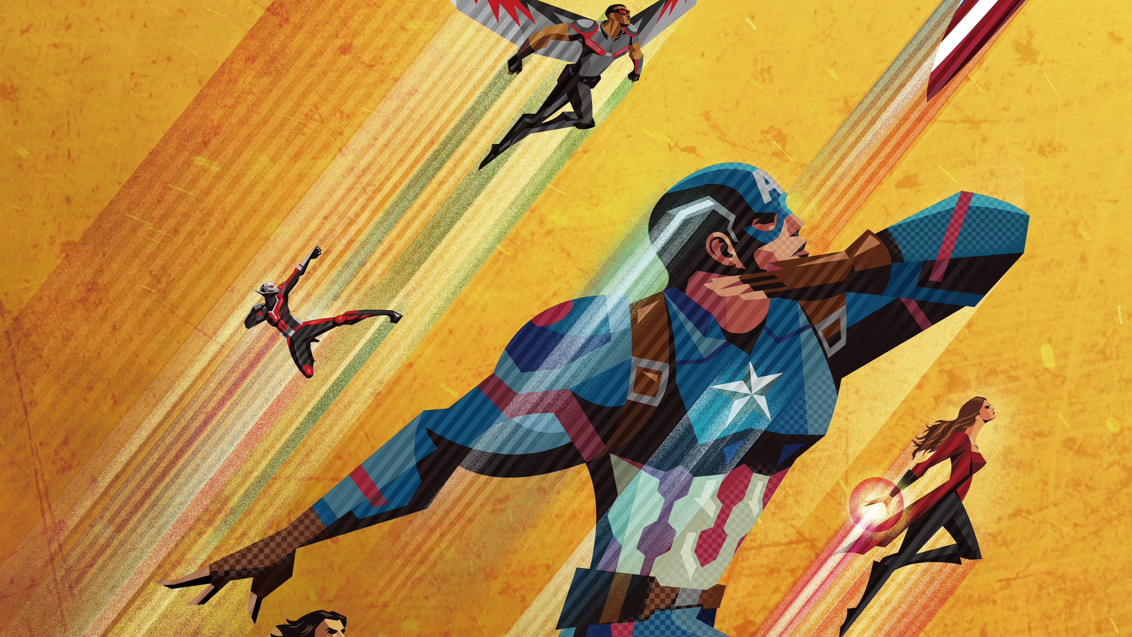 team captain america civil war 1536521789 - Team Captain America Civil War - wanda maximoff wallpapers, superheroes wallpapers, hd-wallpapers, falcon wallpapers, captain america wallpapers, artwork wallpapers, ant man wallpapers, 4k-wallpapers