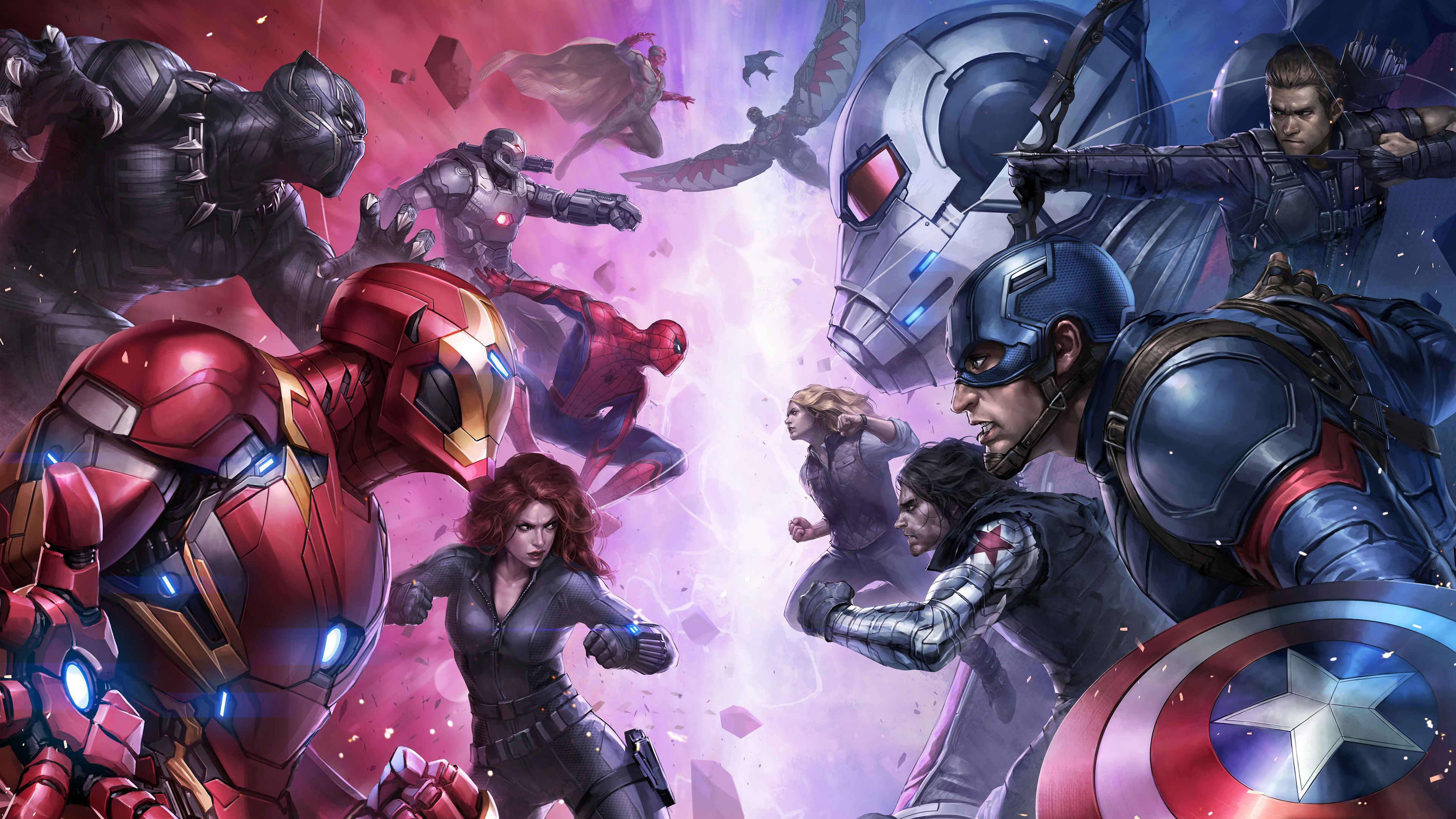 team iron man and team captain america 1536521734 - Team Iron Man And Team Captain America - winter solider wallpapers, war machine wallpapers, vision wallpapers, superheroes wallpapers, spiderman wallpapers, iron man wallpapers, hd-wallpapers, falcon wallpapers, captain america wallpapers, black widow wallpapers, black panther wallpapers, ant man wallpapers, 4k-wallpapers