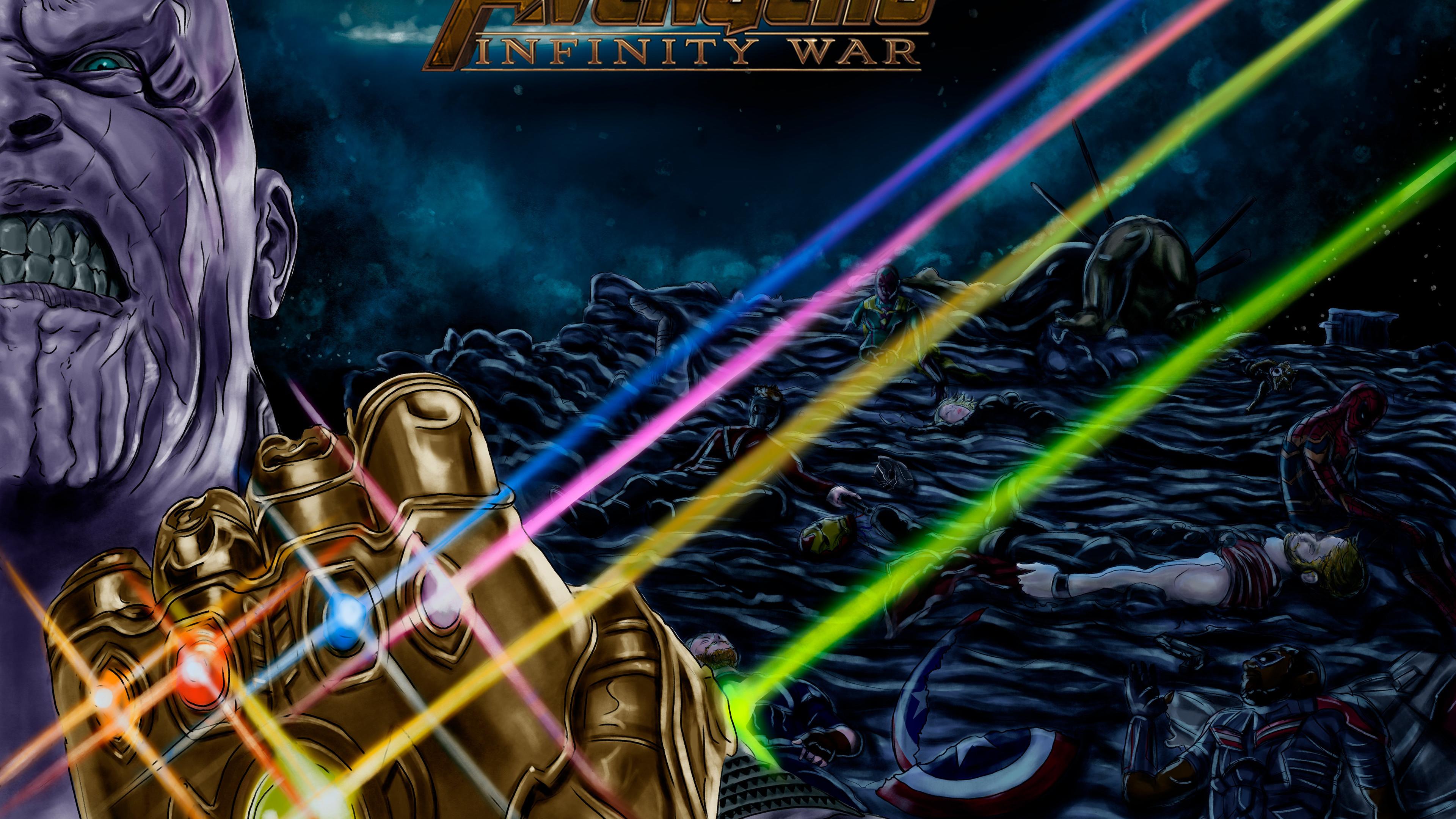 thanos always wins 1536524106 - Thanos Always Wins - thanos-wallpapers, supervillain wallpapers, superheroes wallpapers, hd-wallpapers, digital art wallpapers, behance wallpapers, artwork wallpapers, 4k-wallpapers
