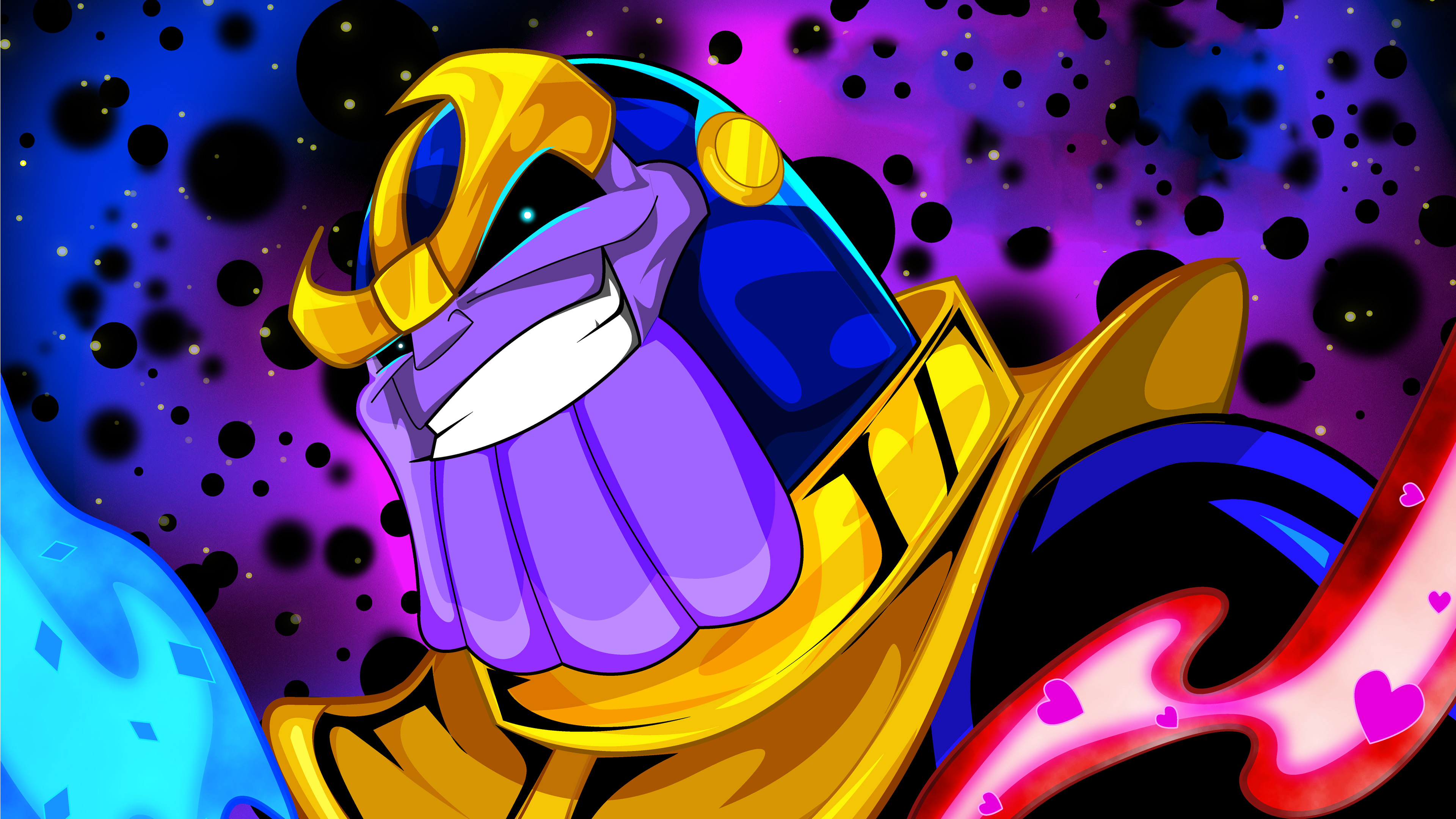 thanos feeling lucky 1536523932 - Thanos Feeling Lucky - thanos-wallpapers, superheroes wallpapers, marvel wallpapers, hd-wallpapers, digital art wallpapers, behance wallpapers, artwork wallpapers, 4k-wallpapers