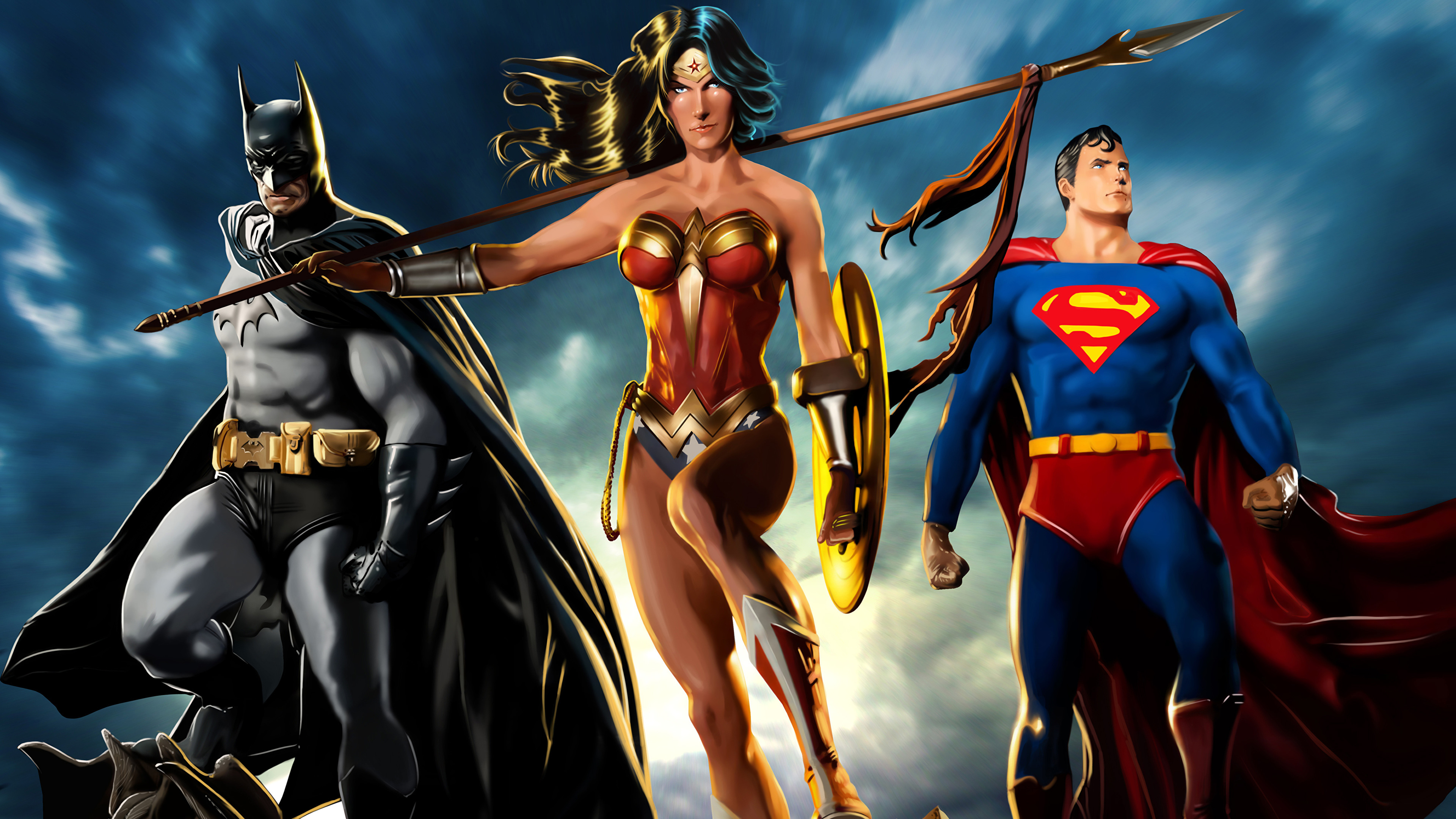 the trinity 4k artwork 1537646064 - The Trinity 4k Artwork - wonder woman wallpapers, superman wallpapers, superheroes wallpapers, hd-wallpapers, digital art wallpapers, batman wallpapers, artwork wallpapers, art wallpapers, 4k-wallpapers