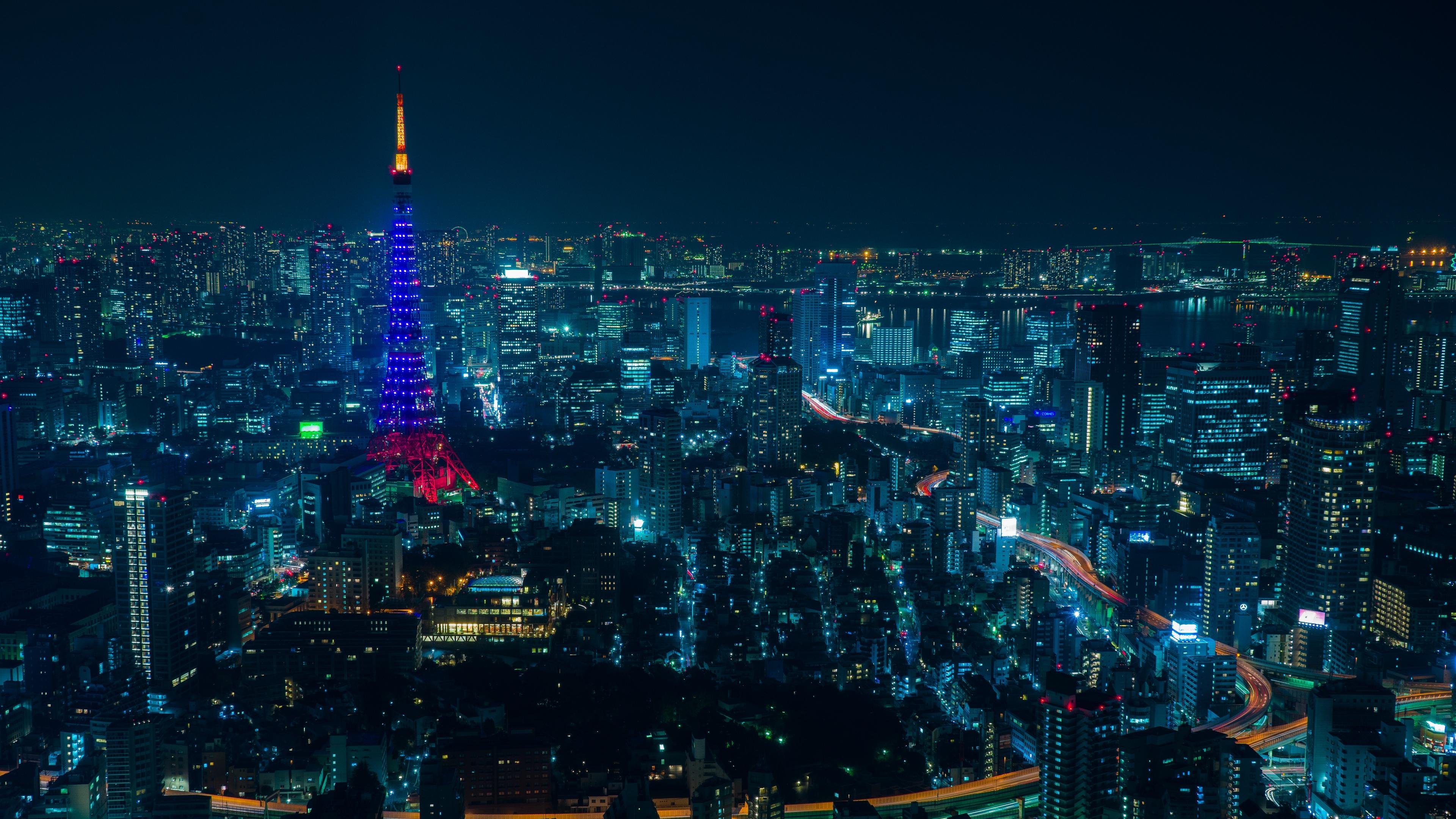 tokyo night city skyscrapers 4k 1538067528 - tokyo, night city, skyscrapers 4k - Tokyo, Skyscrapers, night city