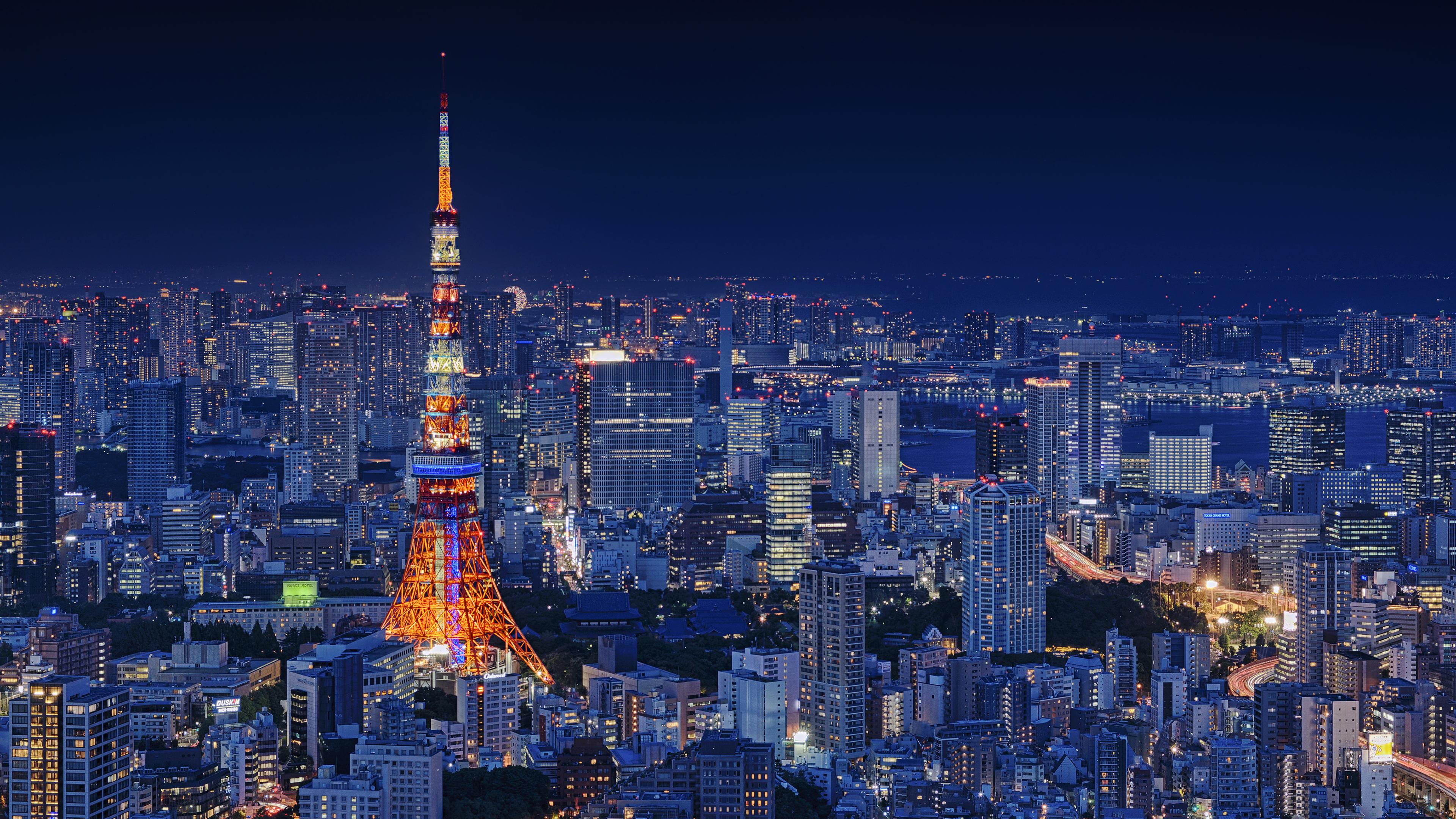 tokyo tower 4k 1538072109 - Tokyo Tower 4k - world wallpapers, tower wallpapers, tokyo wallpapers, tokyo tower wallpapers, skycrapper wallpapers, photography wallpapers, hd-wallpapers, buildings wallpapers, 4k-wallpapers